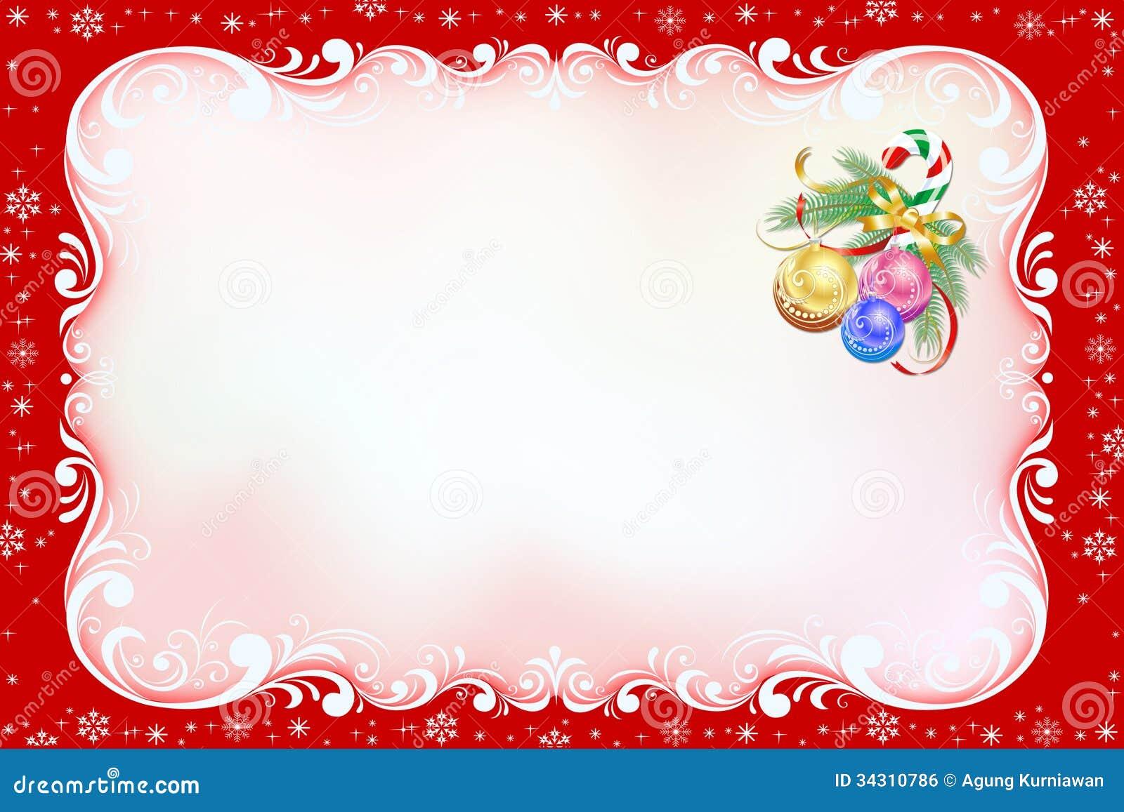 Tarjeta De Navidad Roja Con El Marco Del Remolino. Stock de ...