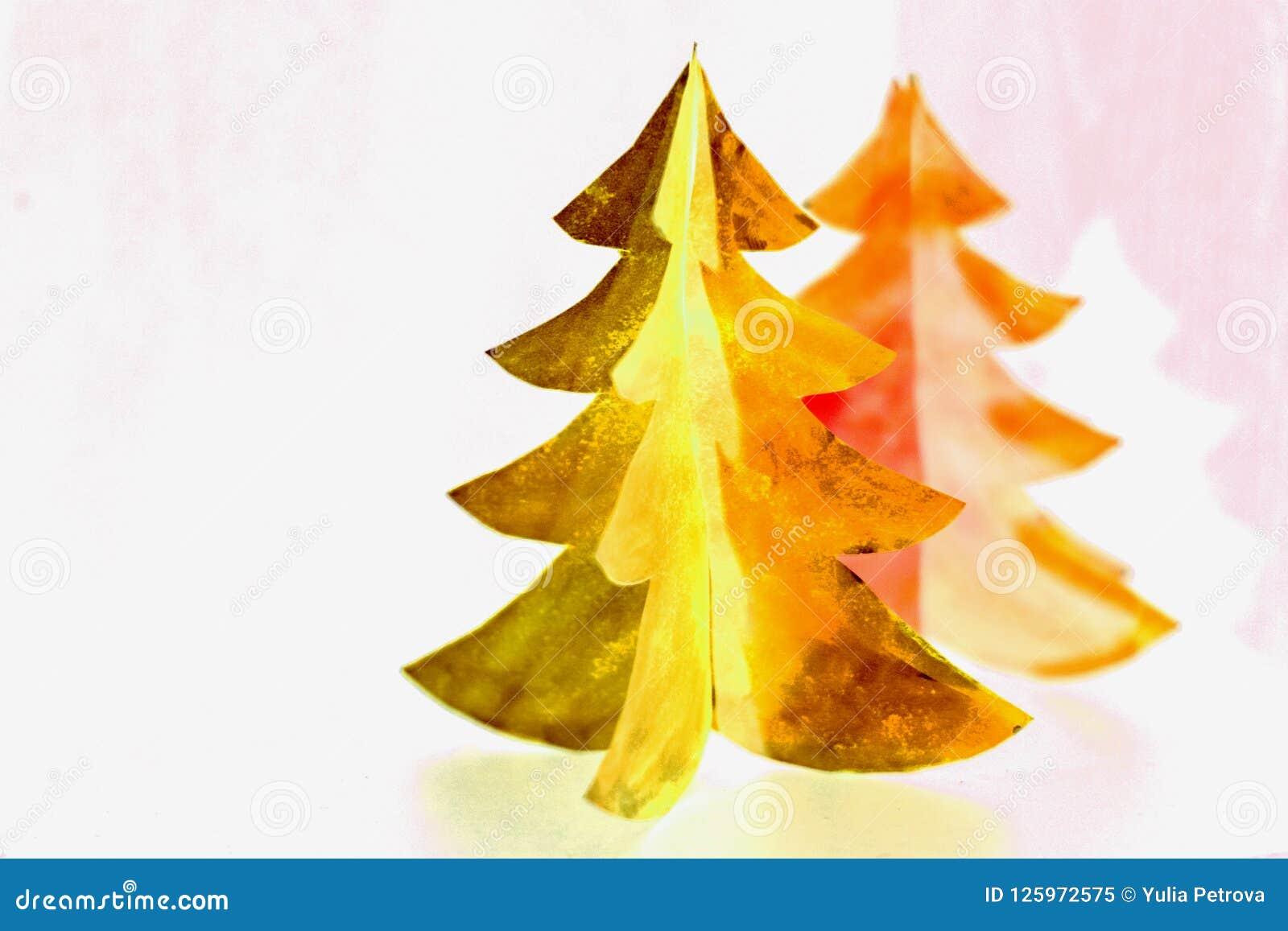 Tarjeta De Papel Del Diseno Del Corte Del Arbol De Navidad Arte De - Arbol-navidad-diseo