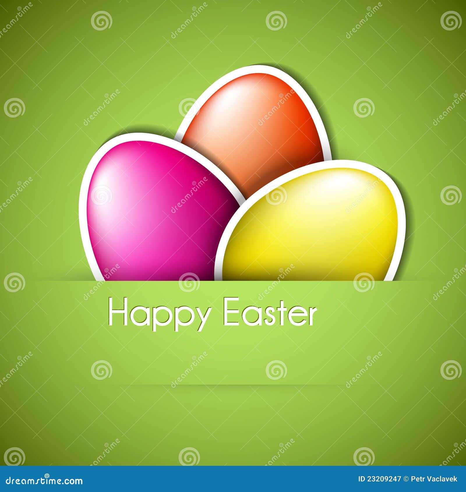 Tarjeta de papel del huevo de Pascua del vector