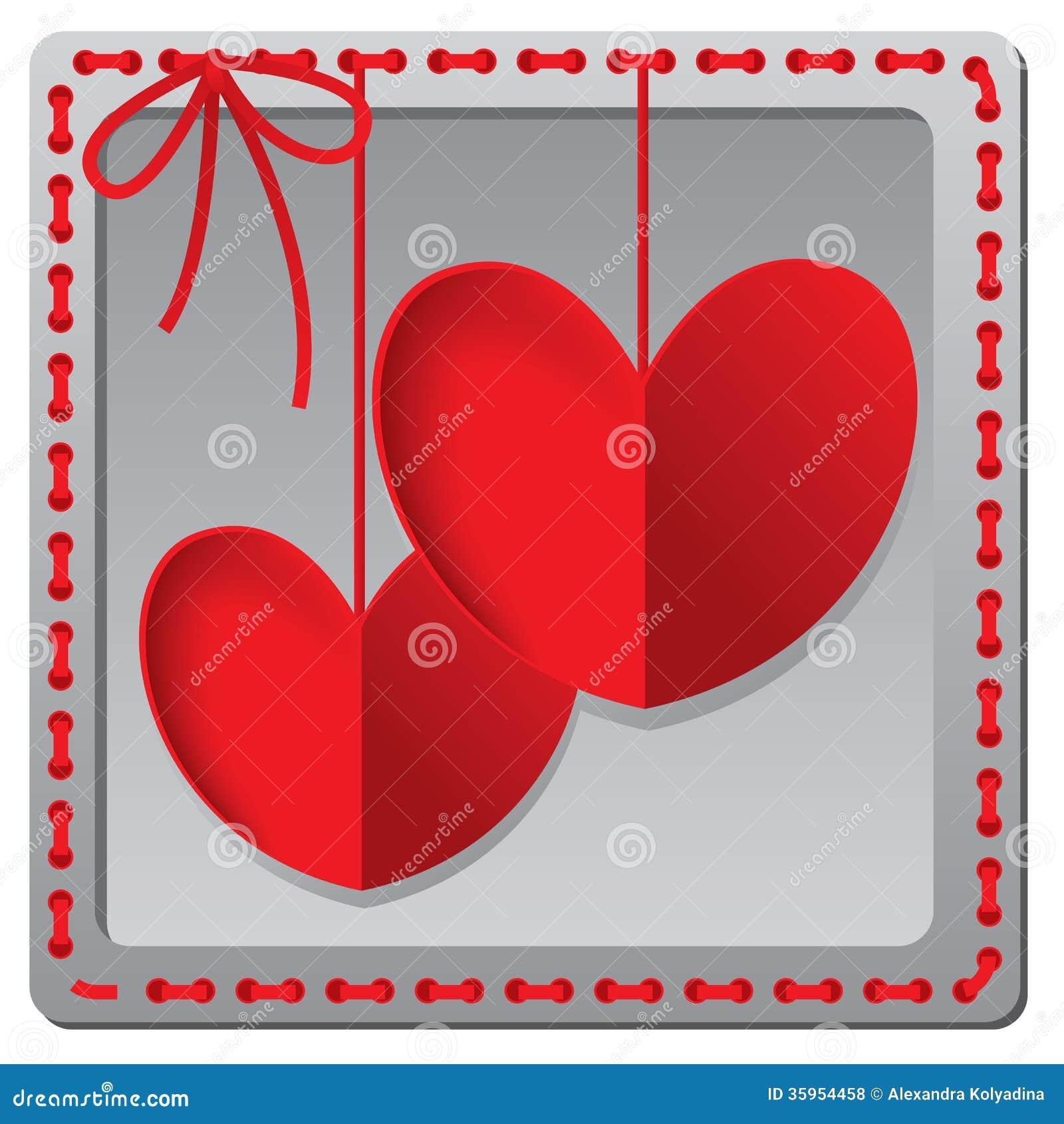 Tarjeta de papel roja del día de tarjetas del día de San Valentín del corazón