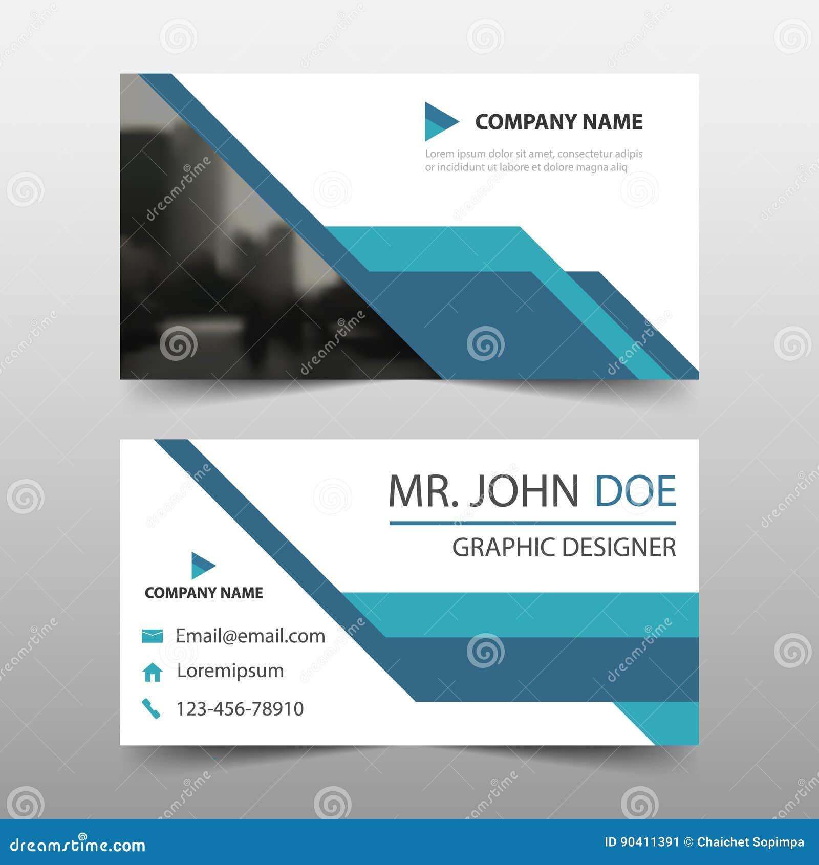 tarjeta de visita corporativa azul plantilla de la tarjeta de