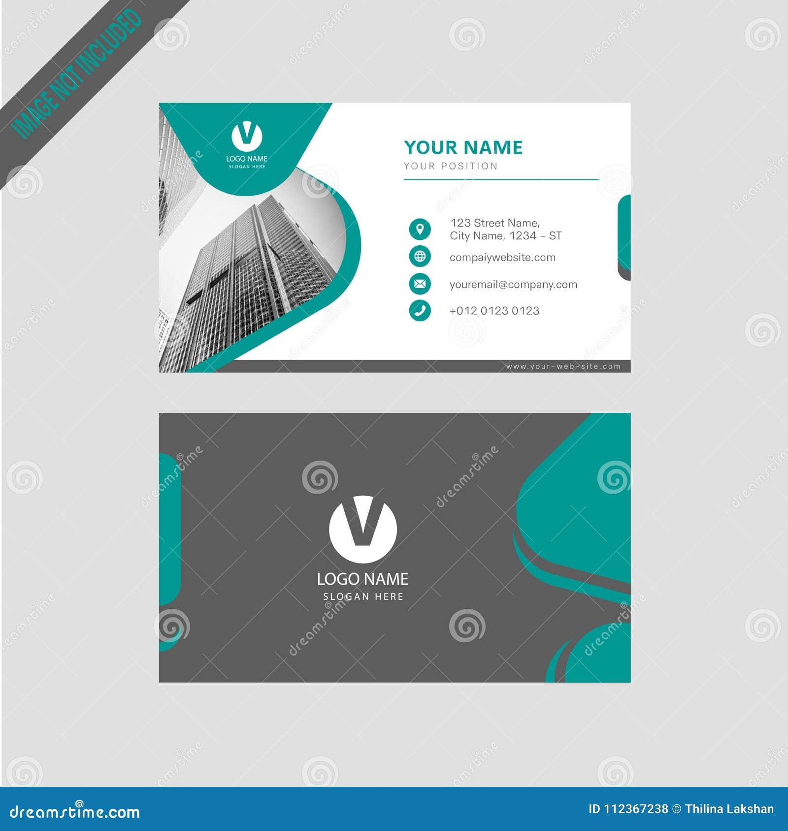 Tarjeta de visita simpal del color moderno profesional, diseño de tarjeta de la invitación