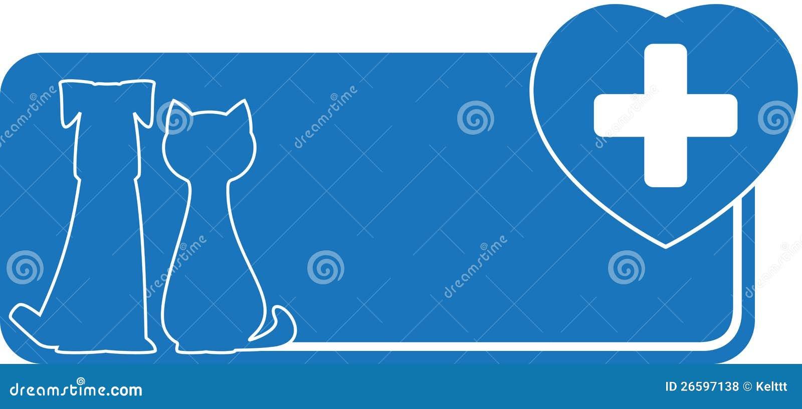 Tarjeta De Visita Veterinaria Con El Perro El Gato Y El Corazon