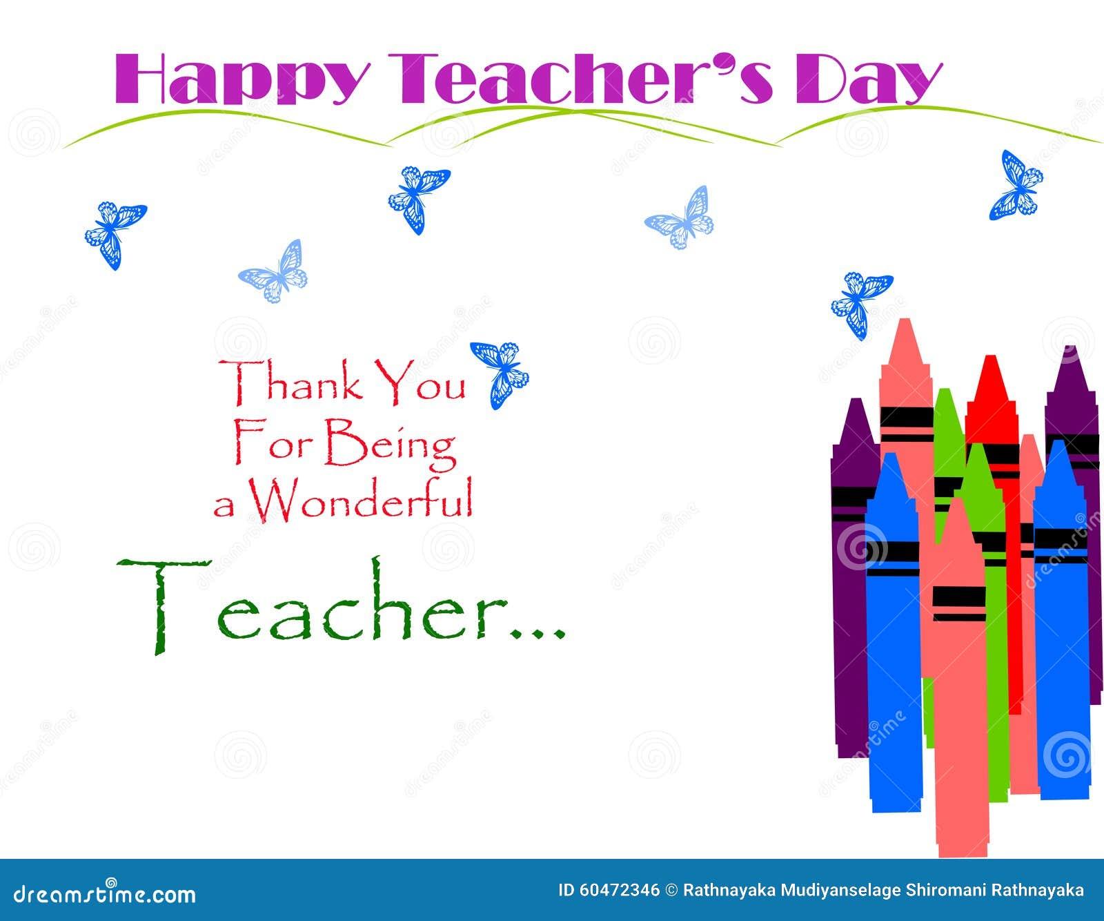 Tarjeta decorativa del día de los profesores