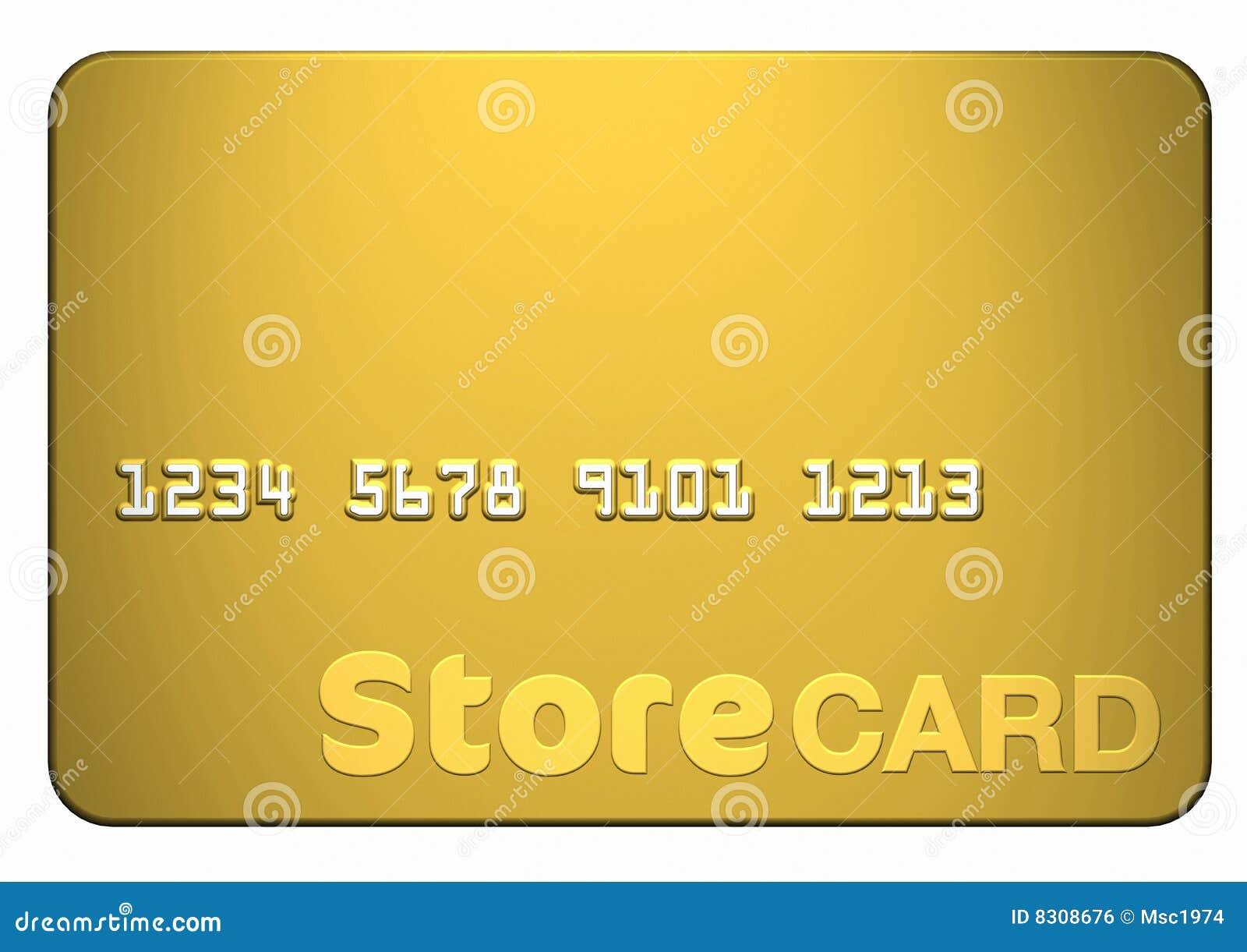 Tarjeta del almacén del oro