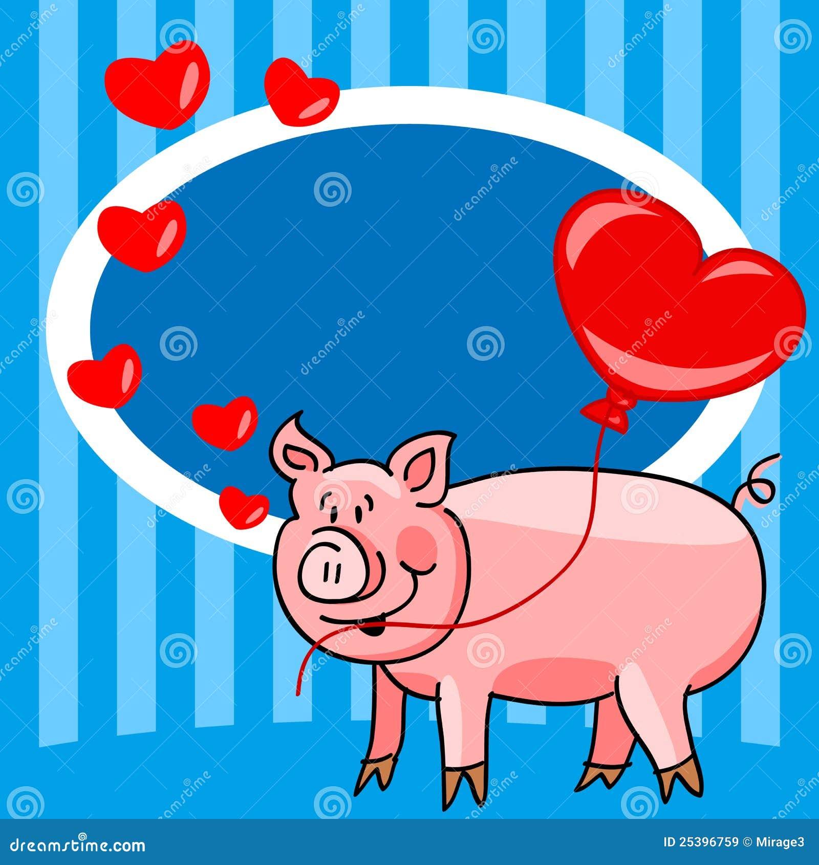 ¡¡¡ Falta una semana !!!-http://thumbs.dreamstime.com/z/tarjeta-del-amor-del-cerdo-de-la-historieta-25396759.jpg