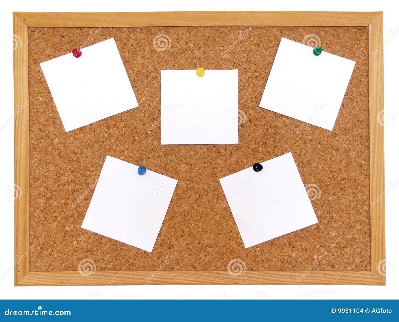 Tarjeta del corcho con las notas imagenes de archivo - Corcho para fotos ...