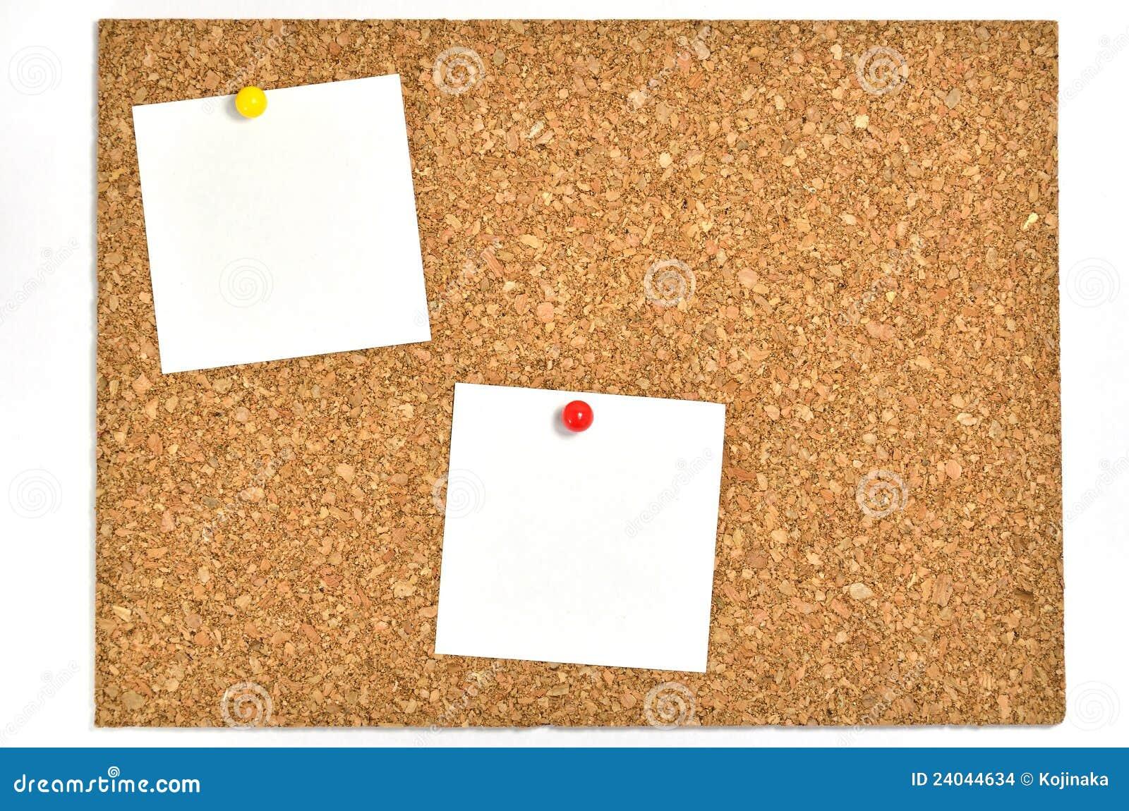 Tarjeta del corcho y notas en blanco imagenes de archivo - Corcho para fotos ...