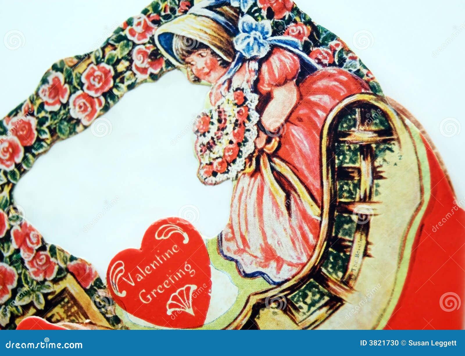 Tarjeta del día de San Valentín antigua