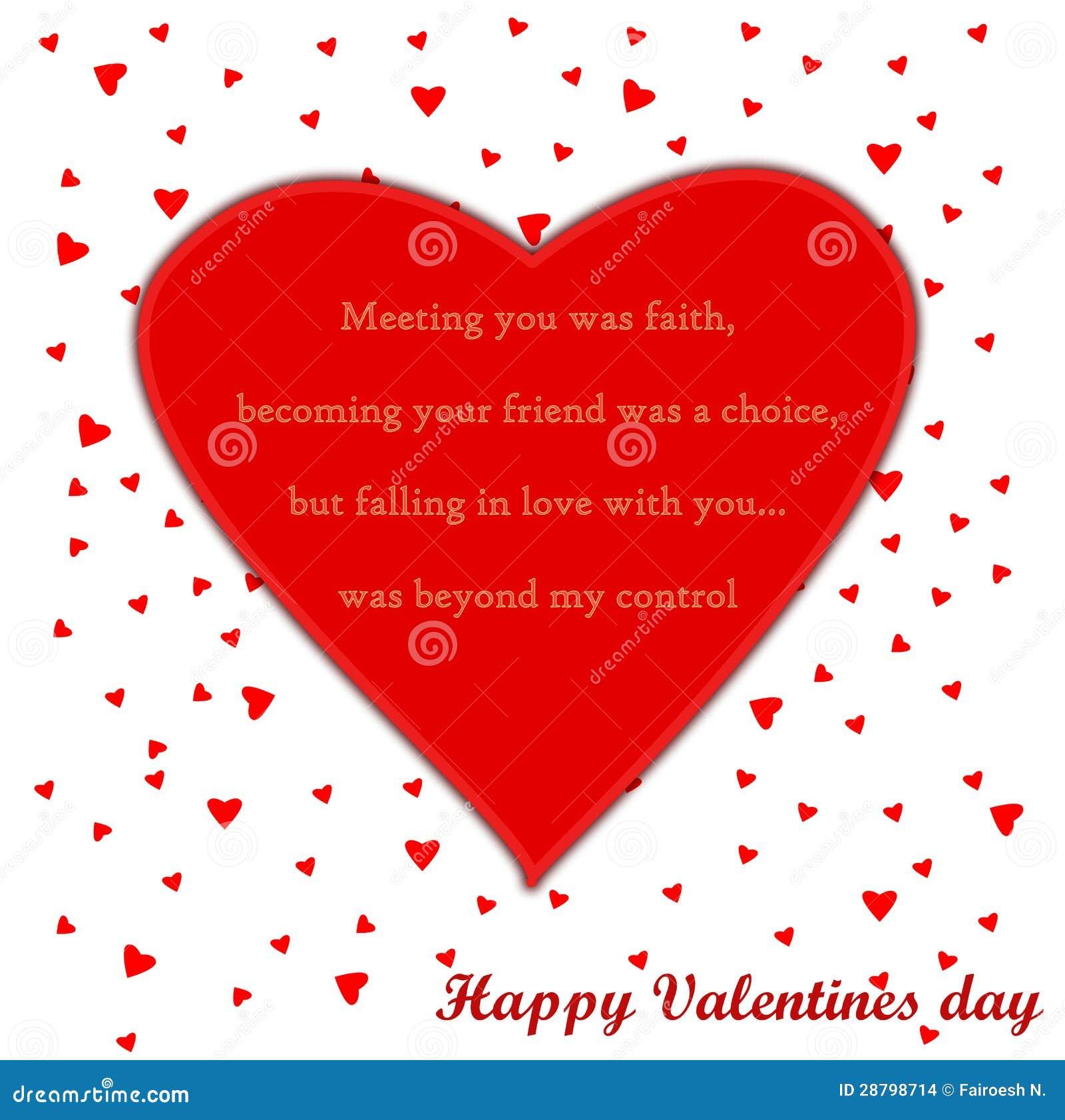 Tarjeta Del Día De Tarjetas Del Día De San Valentín Con El Poema