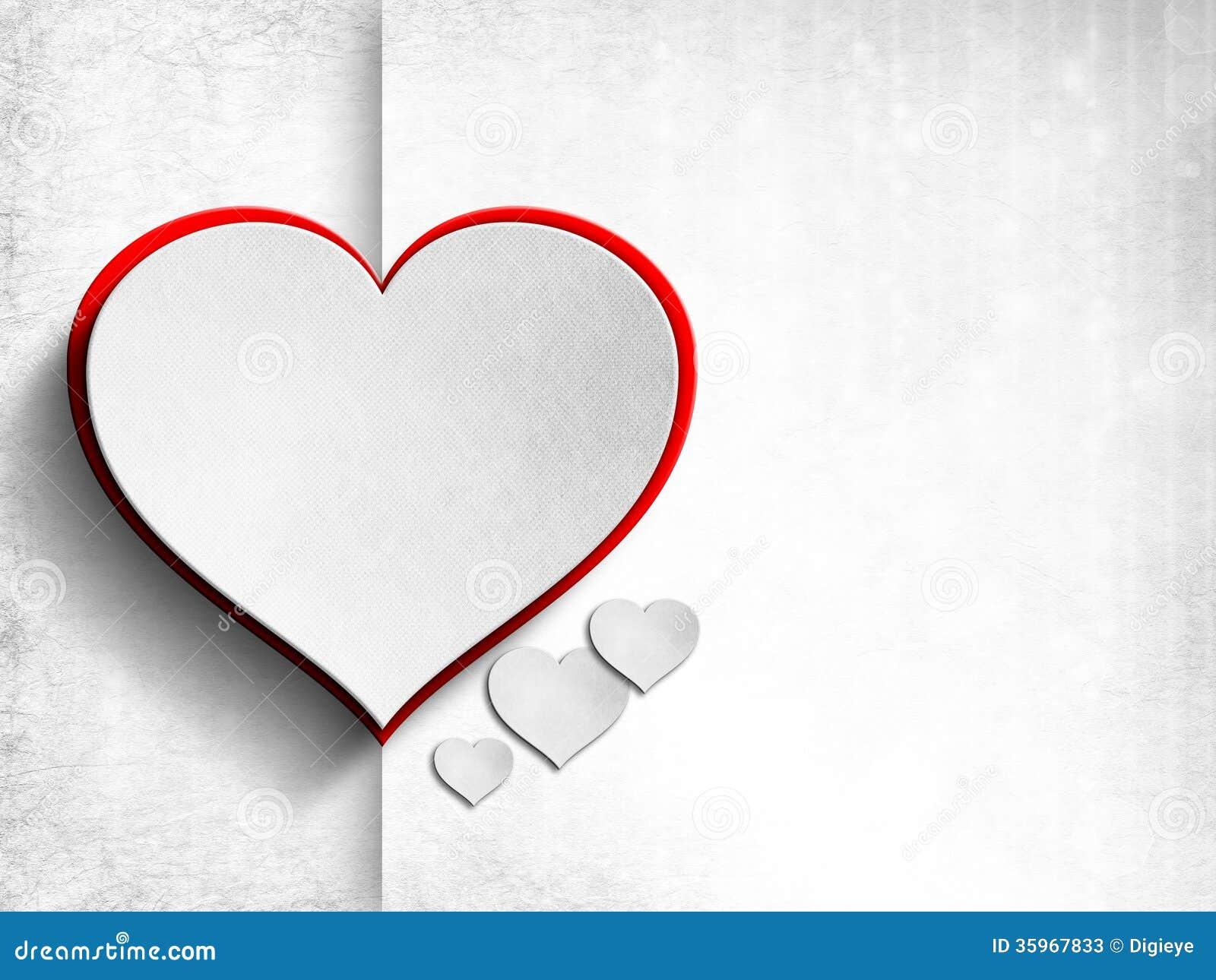 Tarjeta del día de tarjetas del día de San Valentín - plantilla del fondo