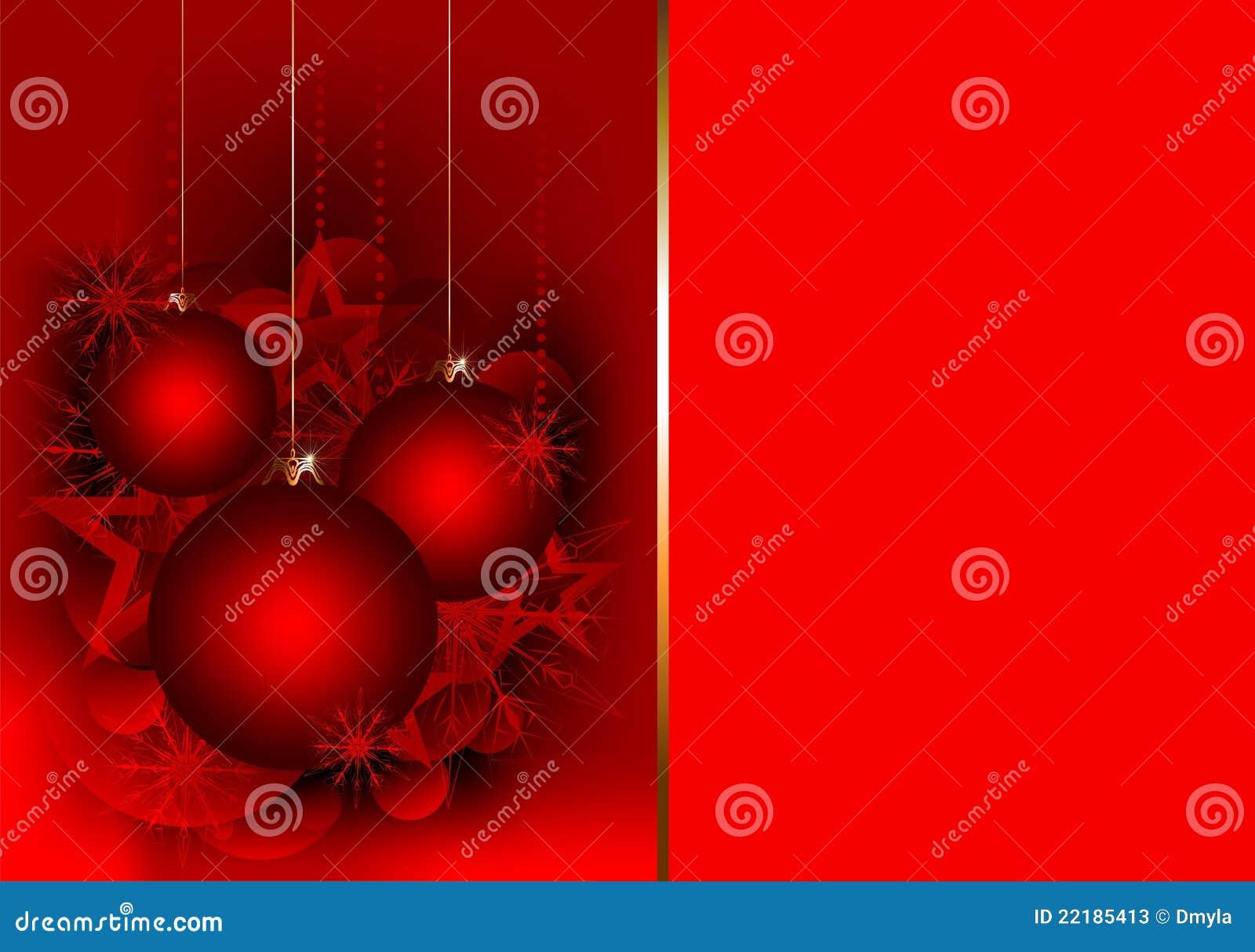 Tarjeta del regalo de la navidad con las bolas rojas fotos - Bolas de navidad rojas ...