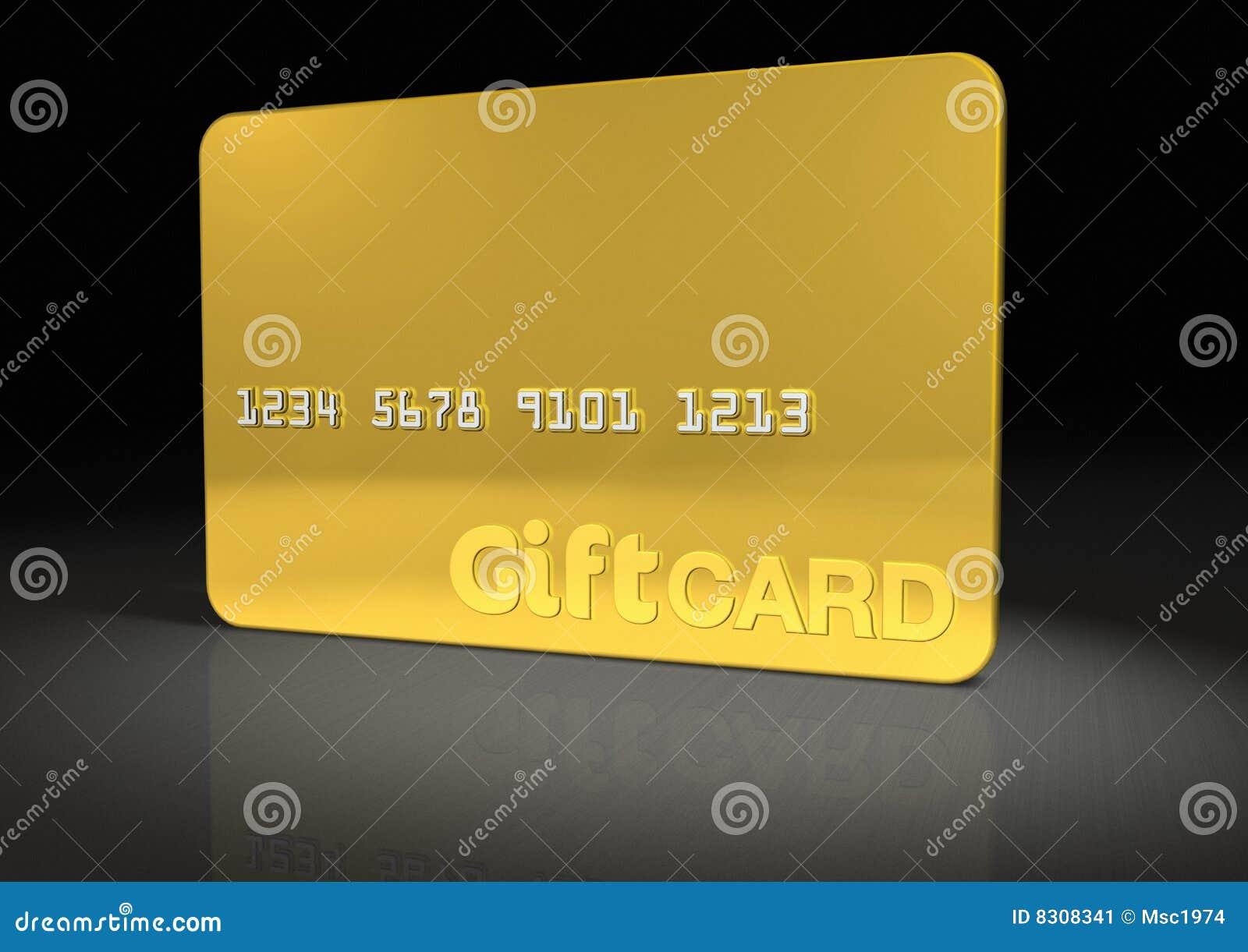 Tarjeta del regalo del oro