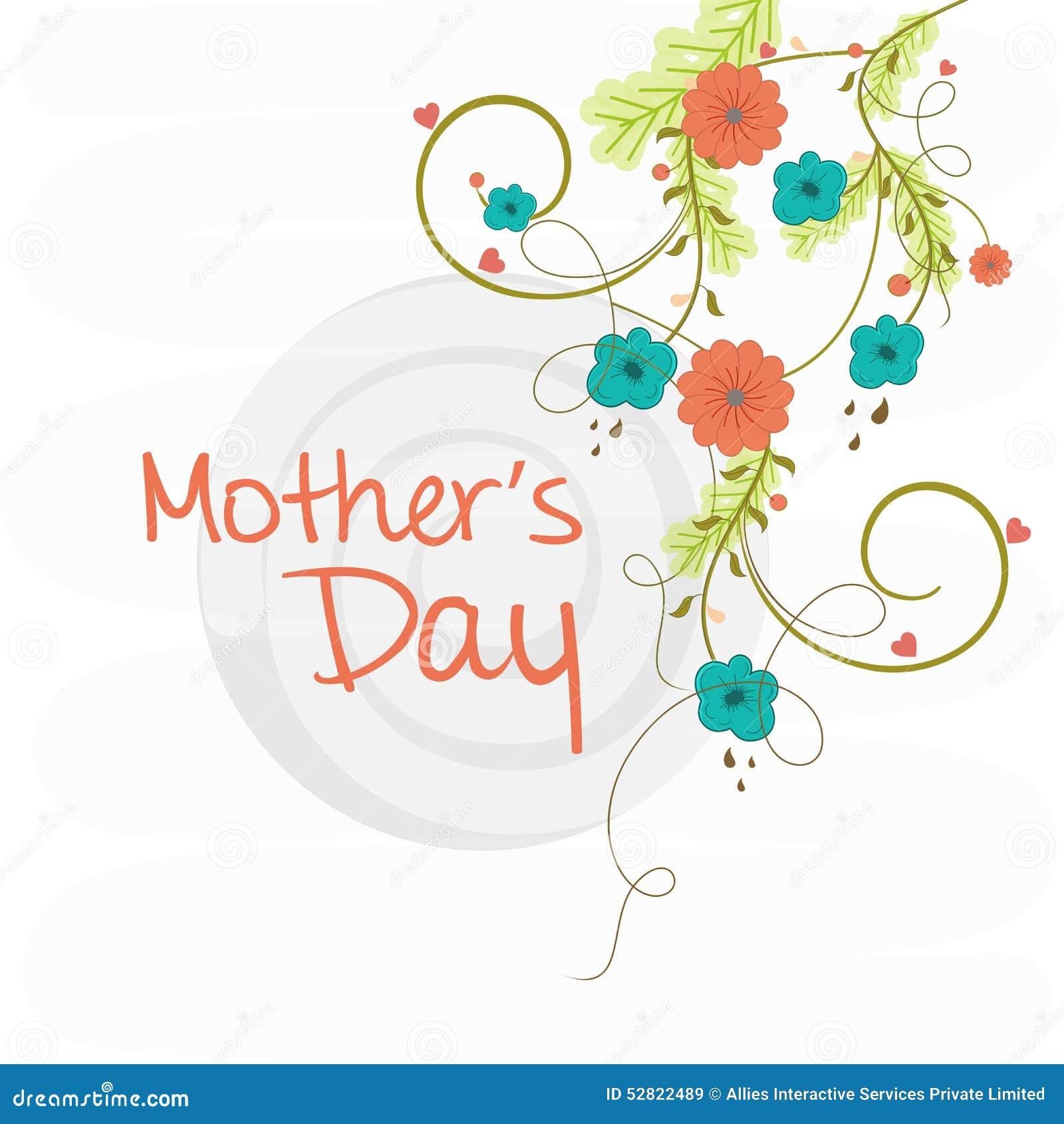 Tarjeta Del Saludo O De La Invitación Para El Día De Madre