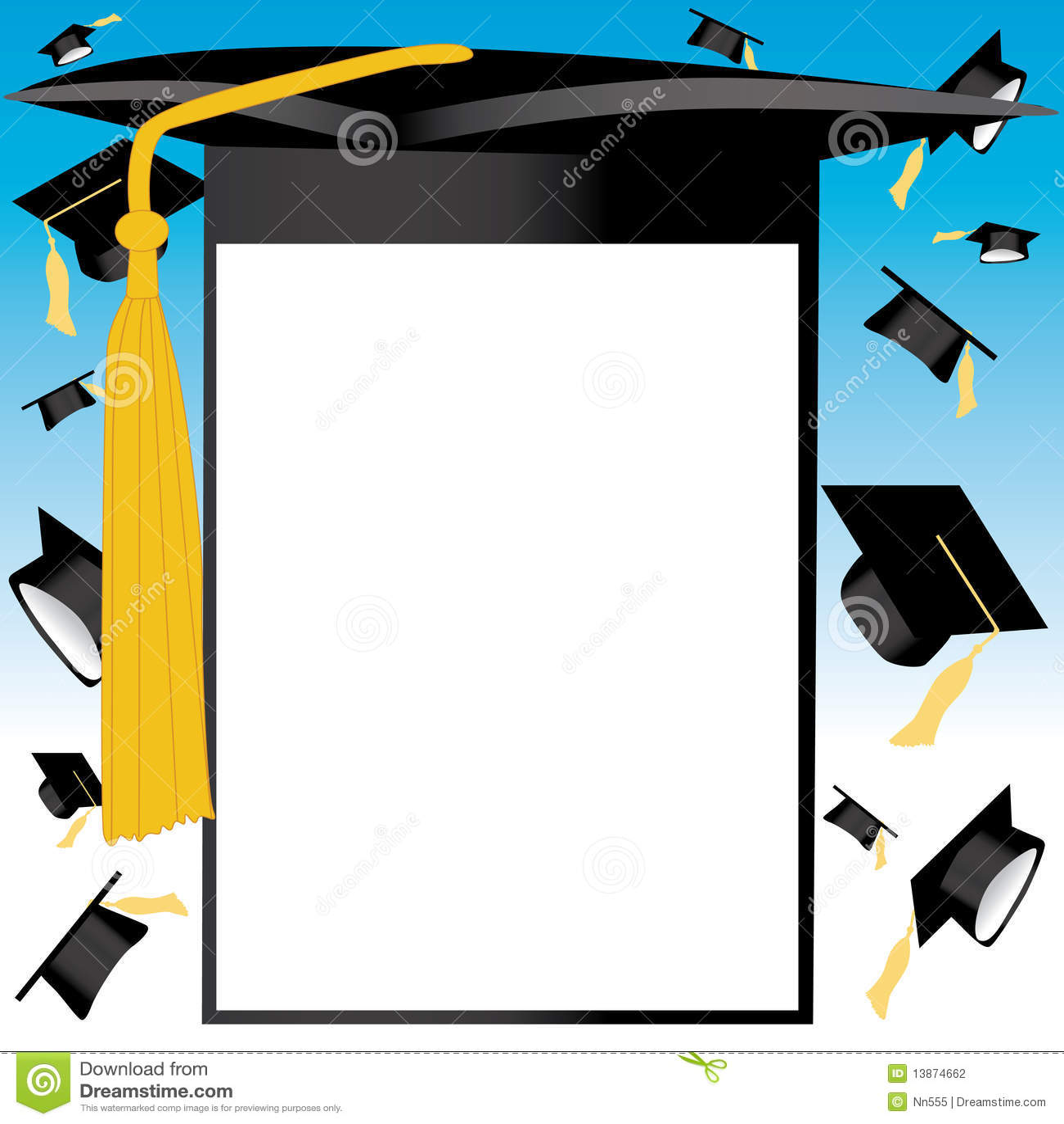 tarjeta del sombrero de la graduacin fotografa de archivo
