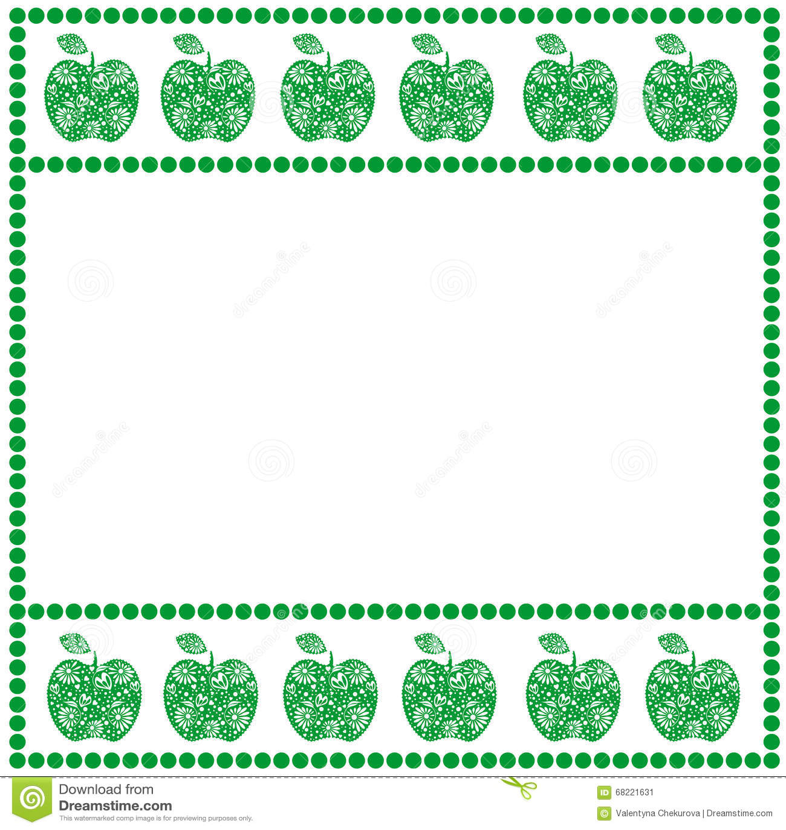 Tarjeta del vector con las frutas forma cuadrada vac a con for Formas ornamentales