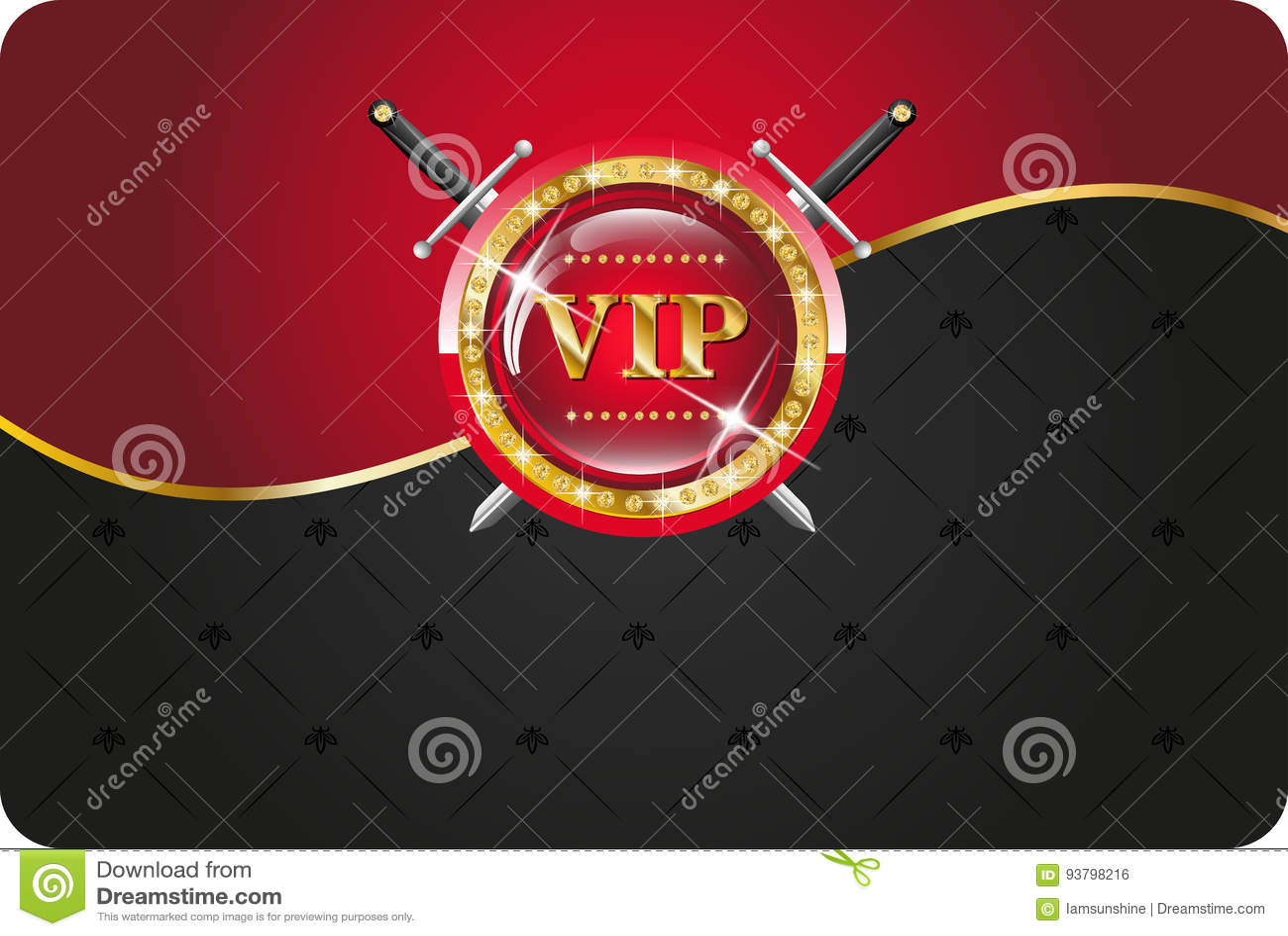 Tarjeta Del Vip Ilustración Del Vector Ilustración De