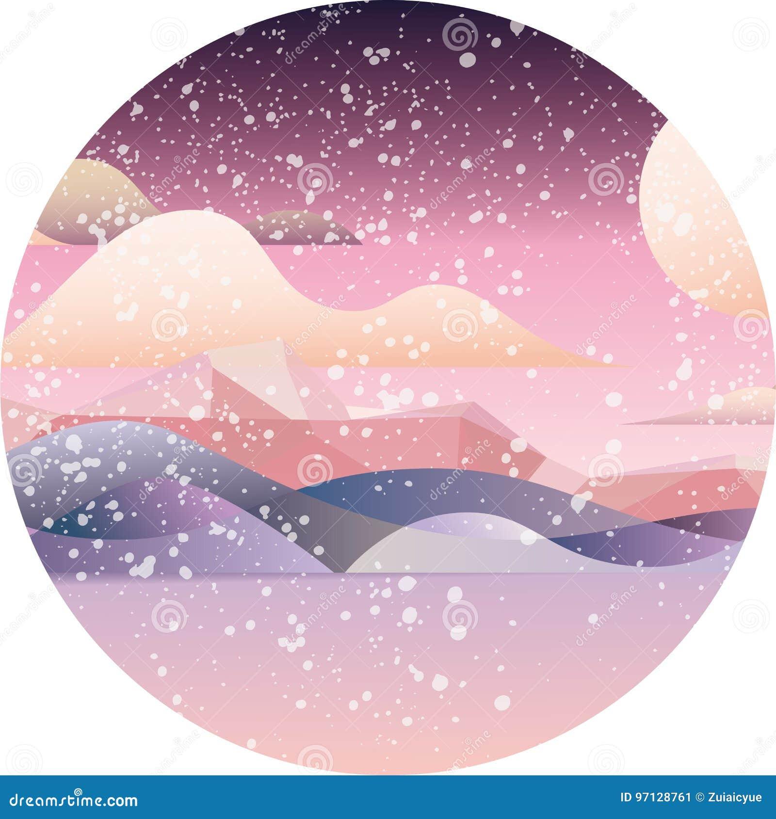 Tarjeta dreamlike rosada del paisaje