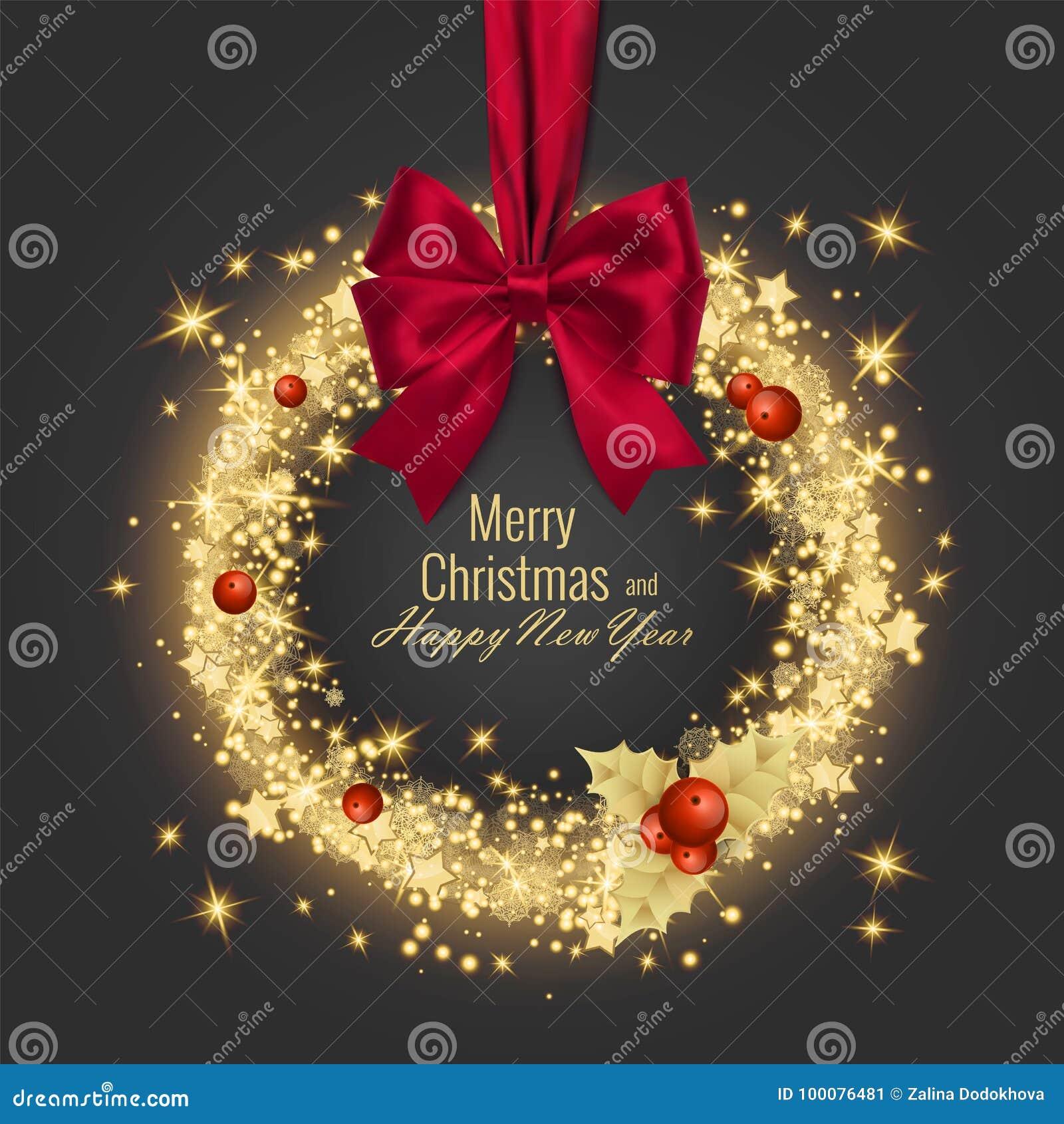 Tarjeta 2018, ejemplo de felicitación de la Feliz Navidad y de la Feliz Año Nuevo del vector