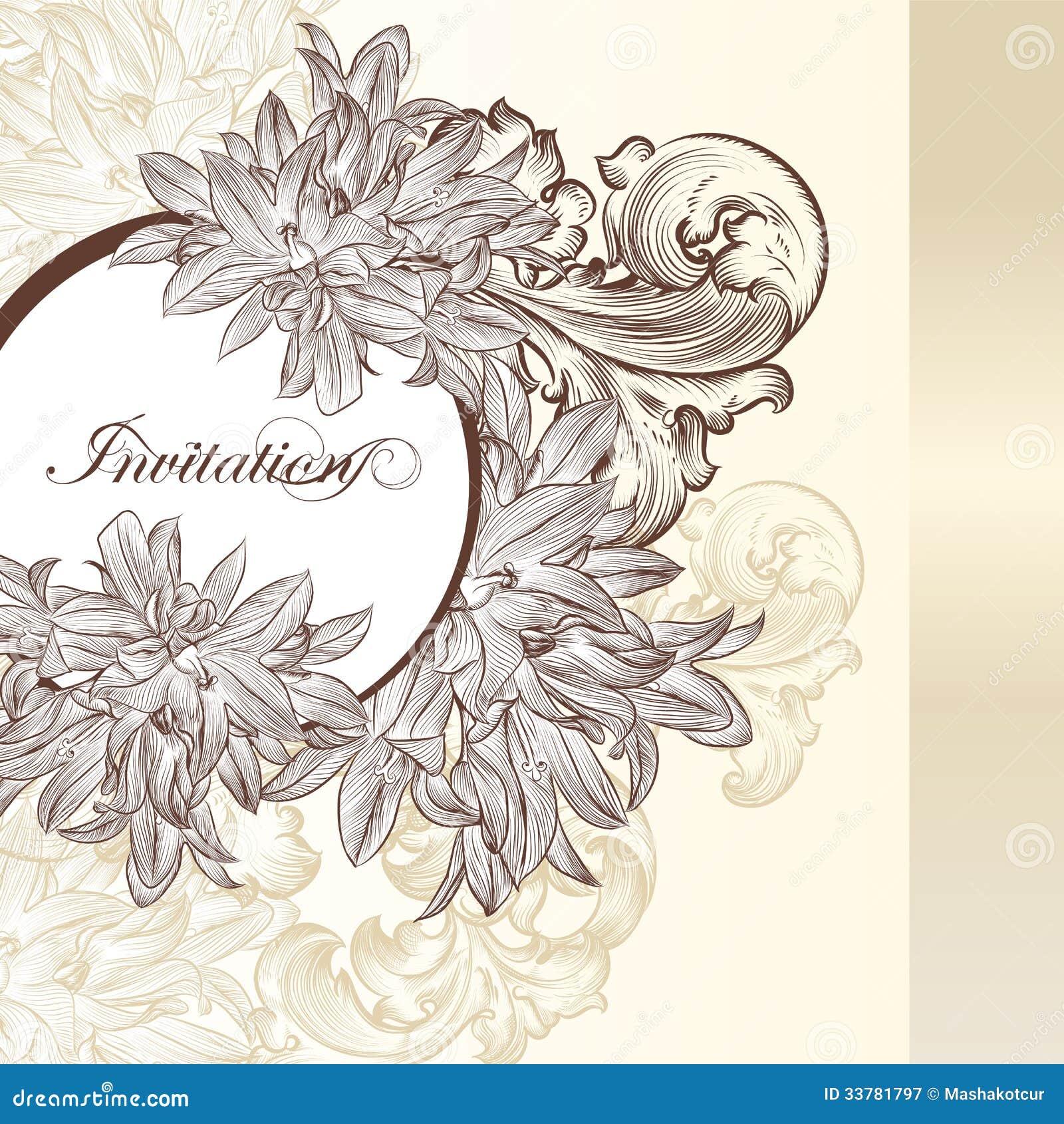 Tarjeta elegante de la invitaci n de la boda para el - Disenos tarjetas de boda ...