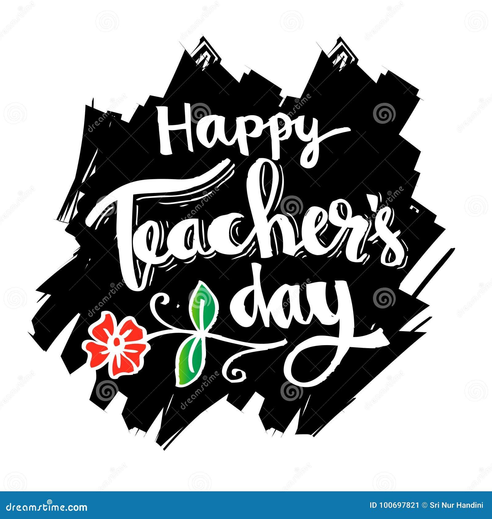 Tarjeta feliz del día de los profesores