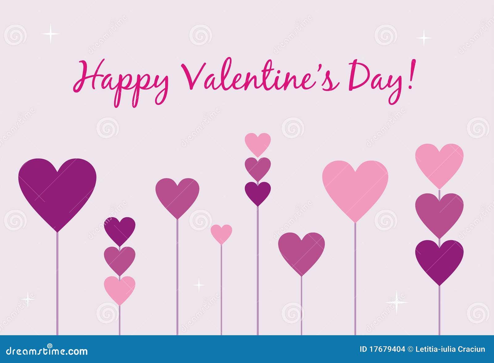 Tarjeta feliz del día de tarjeta del día de San Valentín