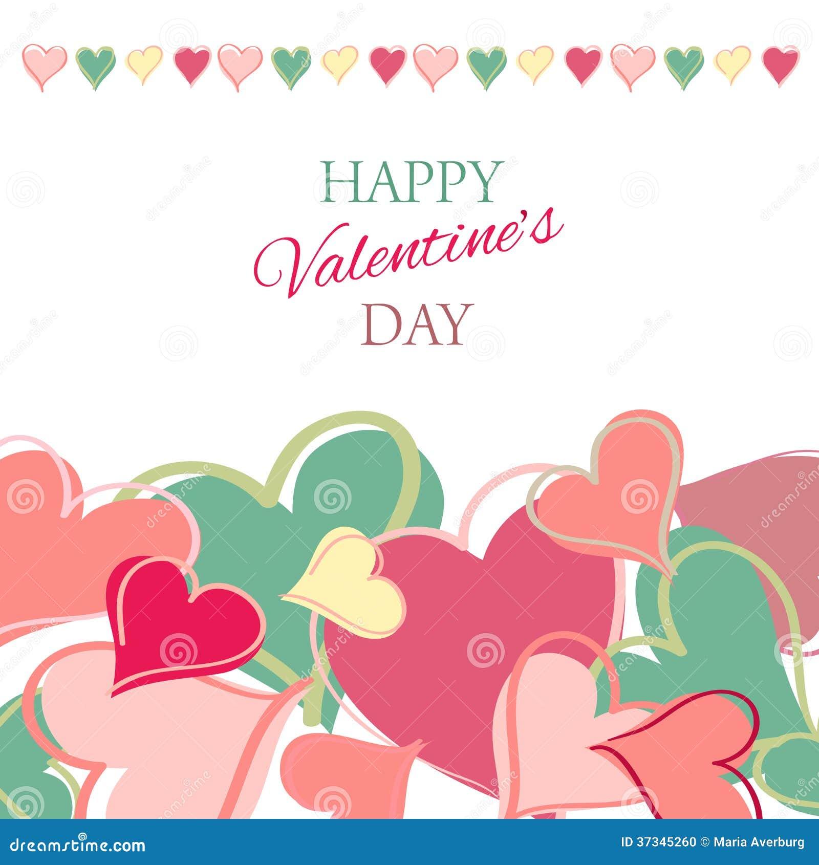 Tarjeta feliz del día de tarjetas del día de San Valentín.
