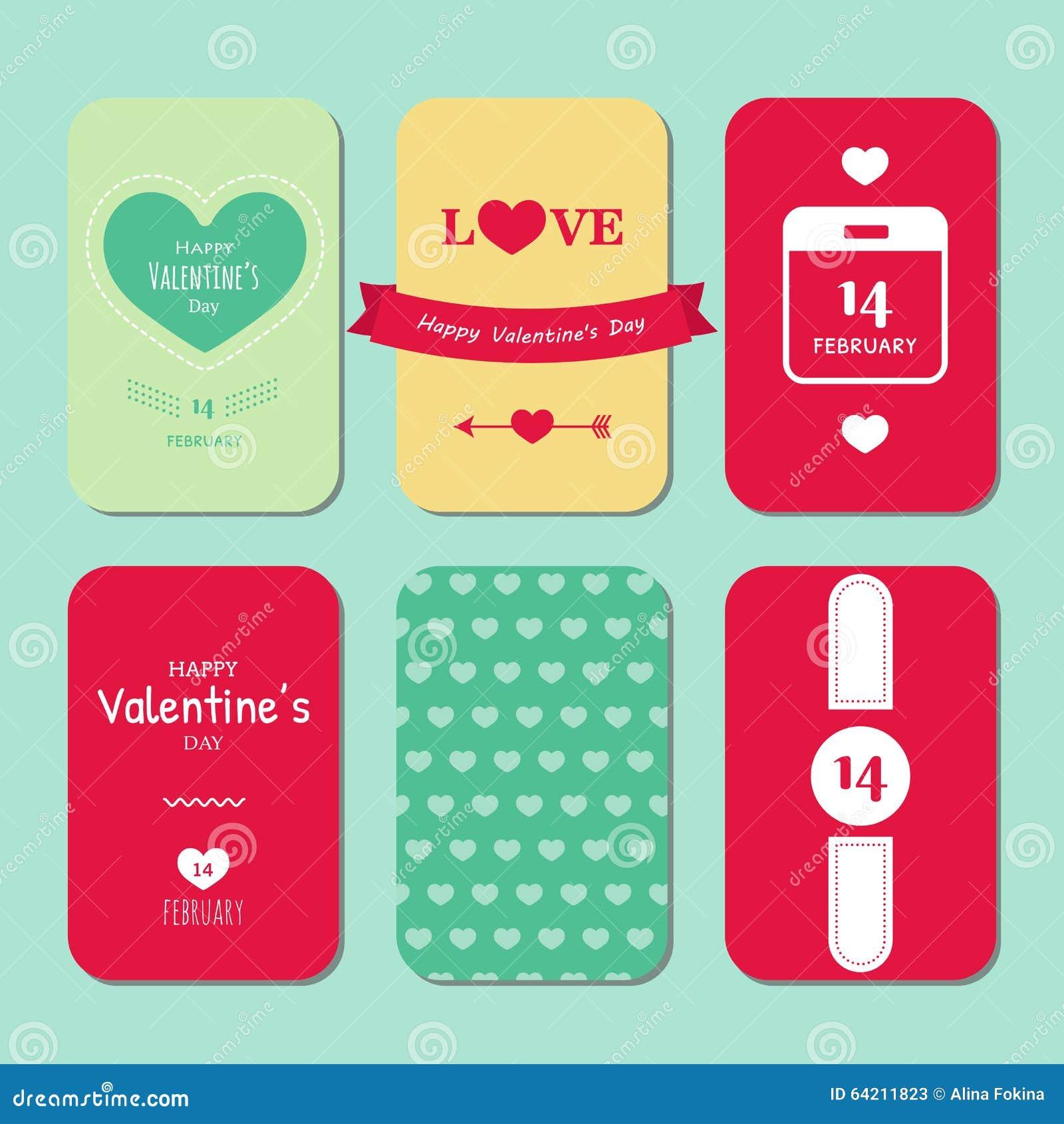 Tarjeta feliz del vintage del día de tarjeta del día de San Valentín