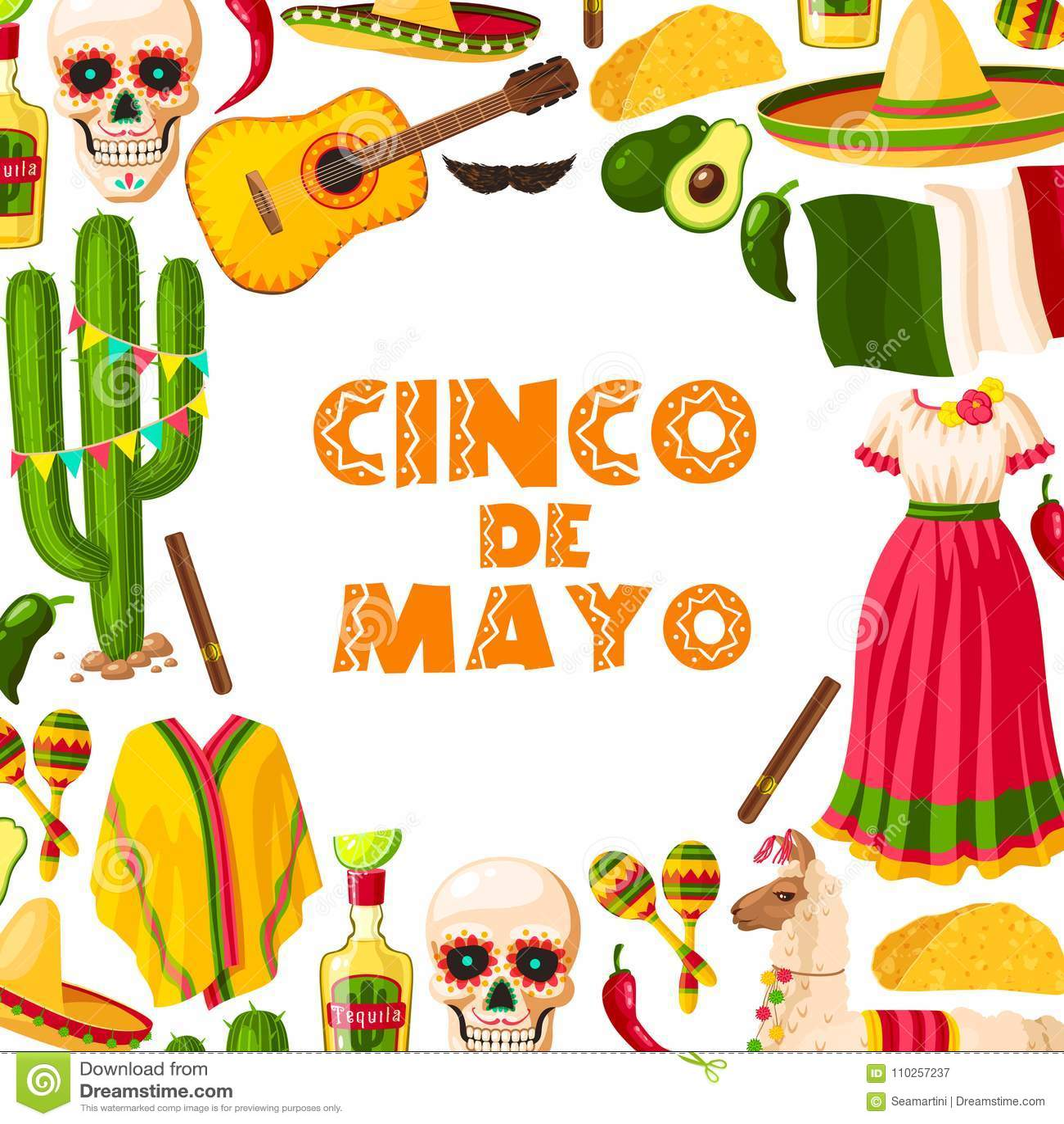 Tarjeta de felicitación mexicana del día de fiesta de Cinco de Mayo para la  celebración de victoria de la batalla de Puebla El sombrero del partido de  la ... 73d29879ea3