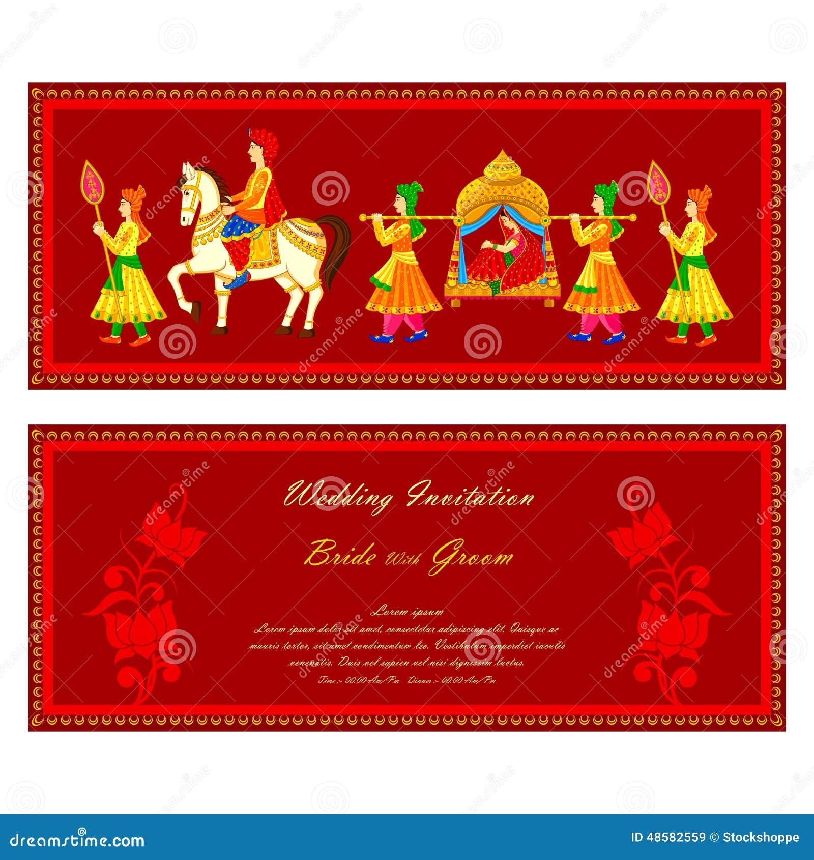 Tarjetas de boda india imágenes