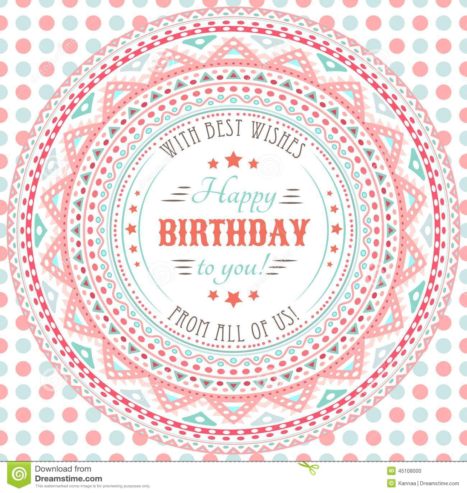 Tarjeta linda divertida del feliz cumpleaños Letras de la tipografía