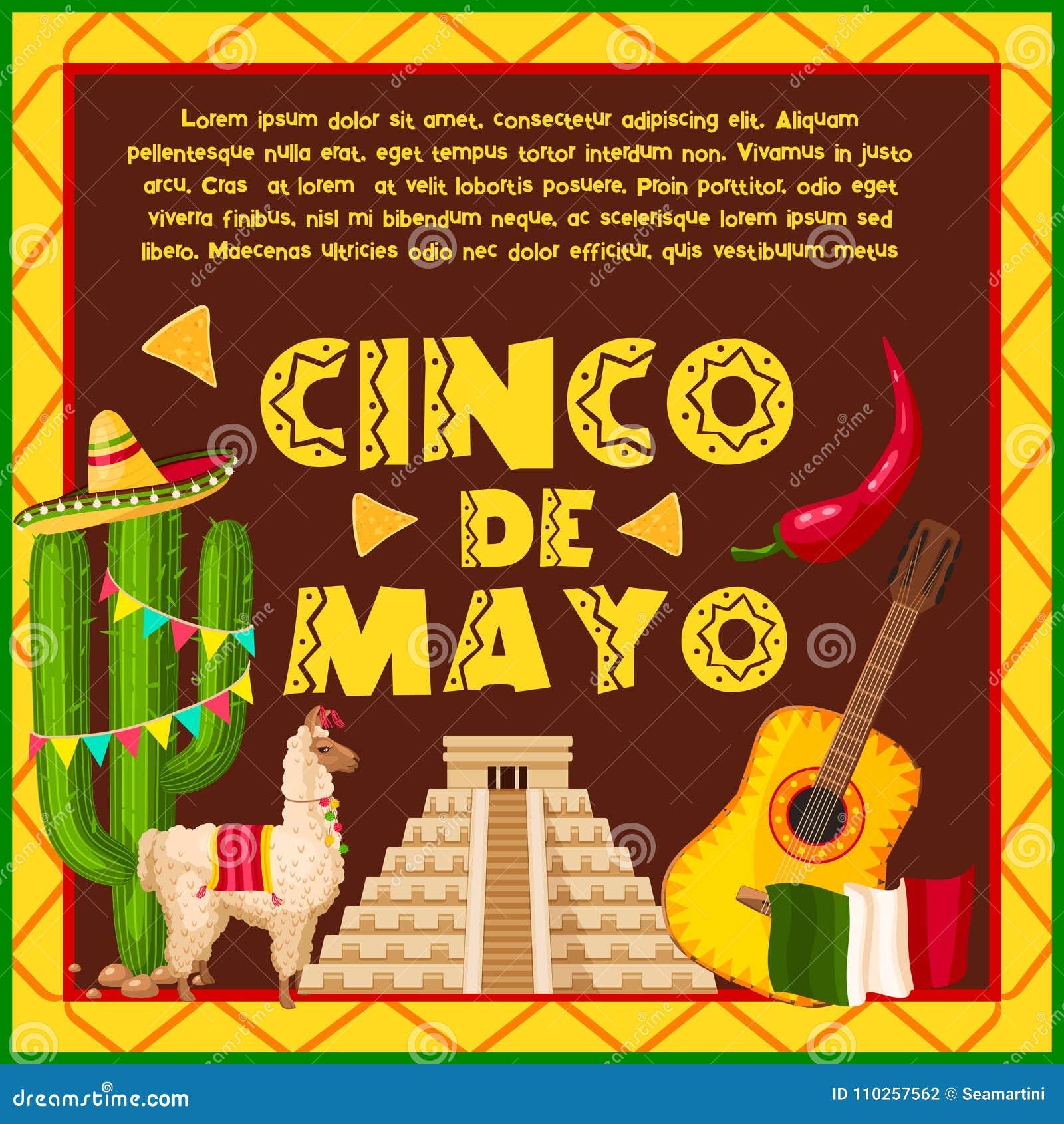 Tarjeta de felicitación mexicana del día de fiesta para la celebración de  Cinco de Mayo Sombrero del sombrero del partido de la fiesta 79f415b9359
