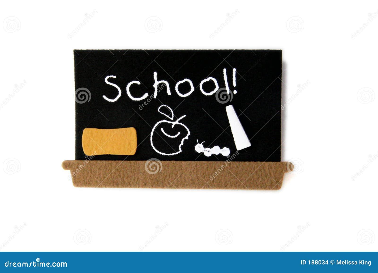 Tarjeta negra de la escuela