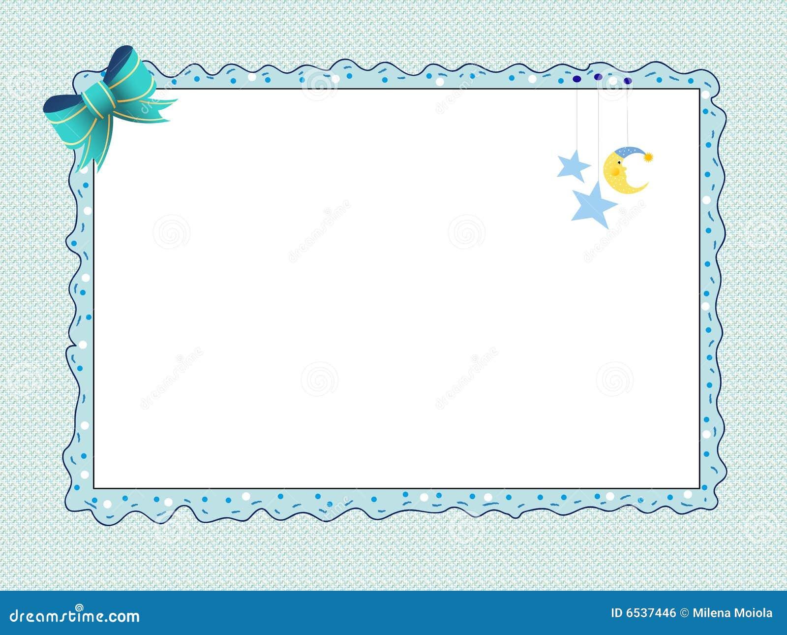 Tarjeta Para El Varón Recién Nacido Stock de ilustración ...