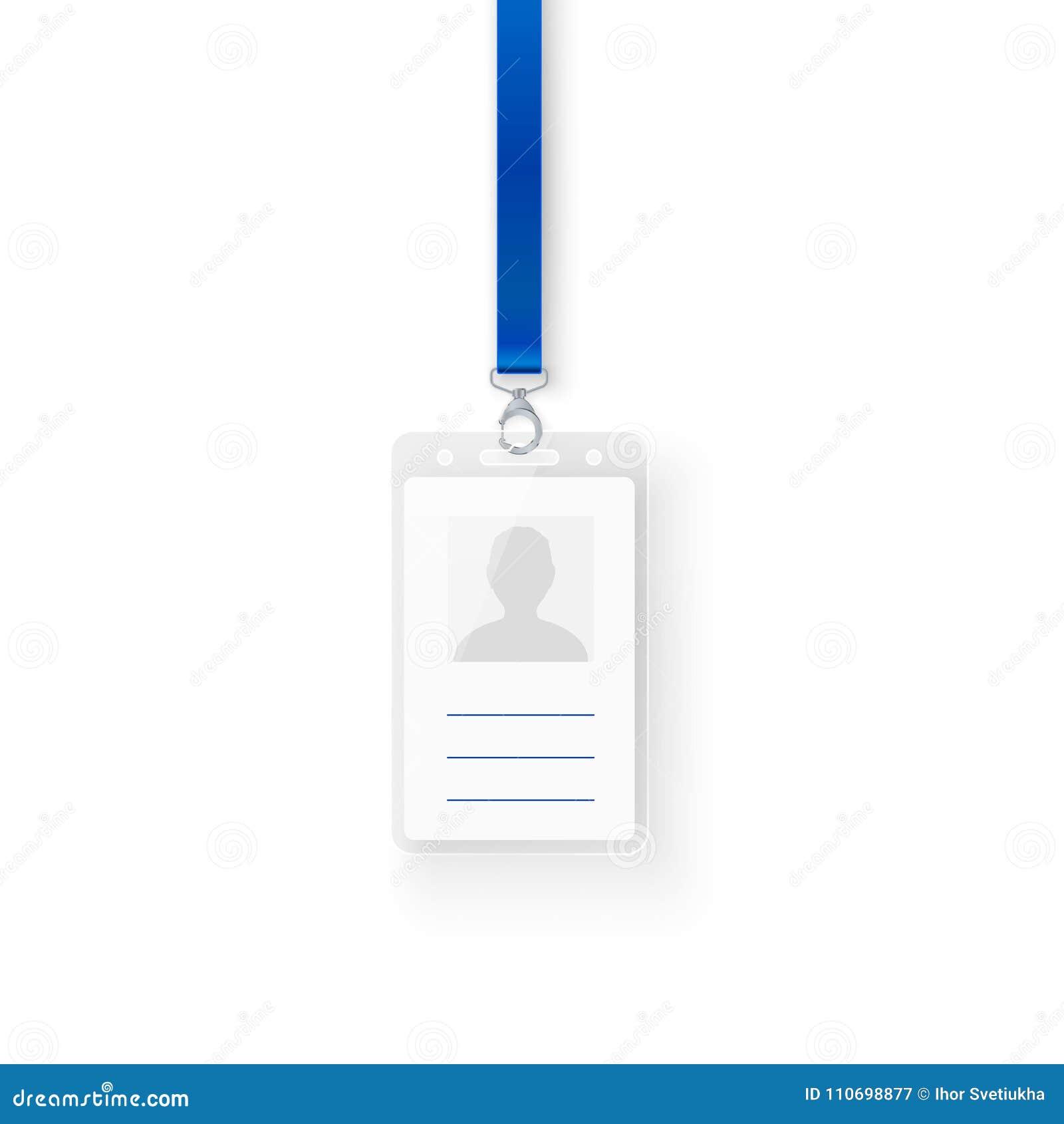 Tarjeta Personal De La Identificación Del Plástico De La ...