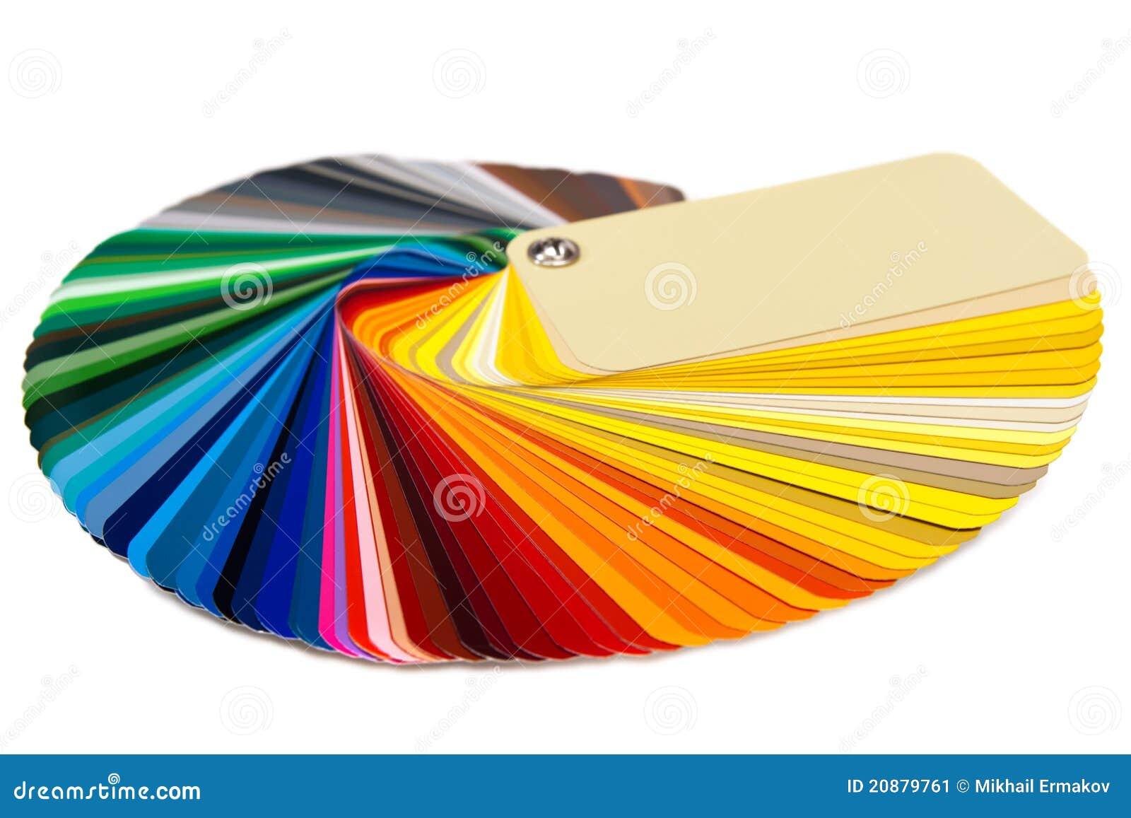 Tarjeta RAL del color