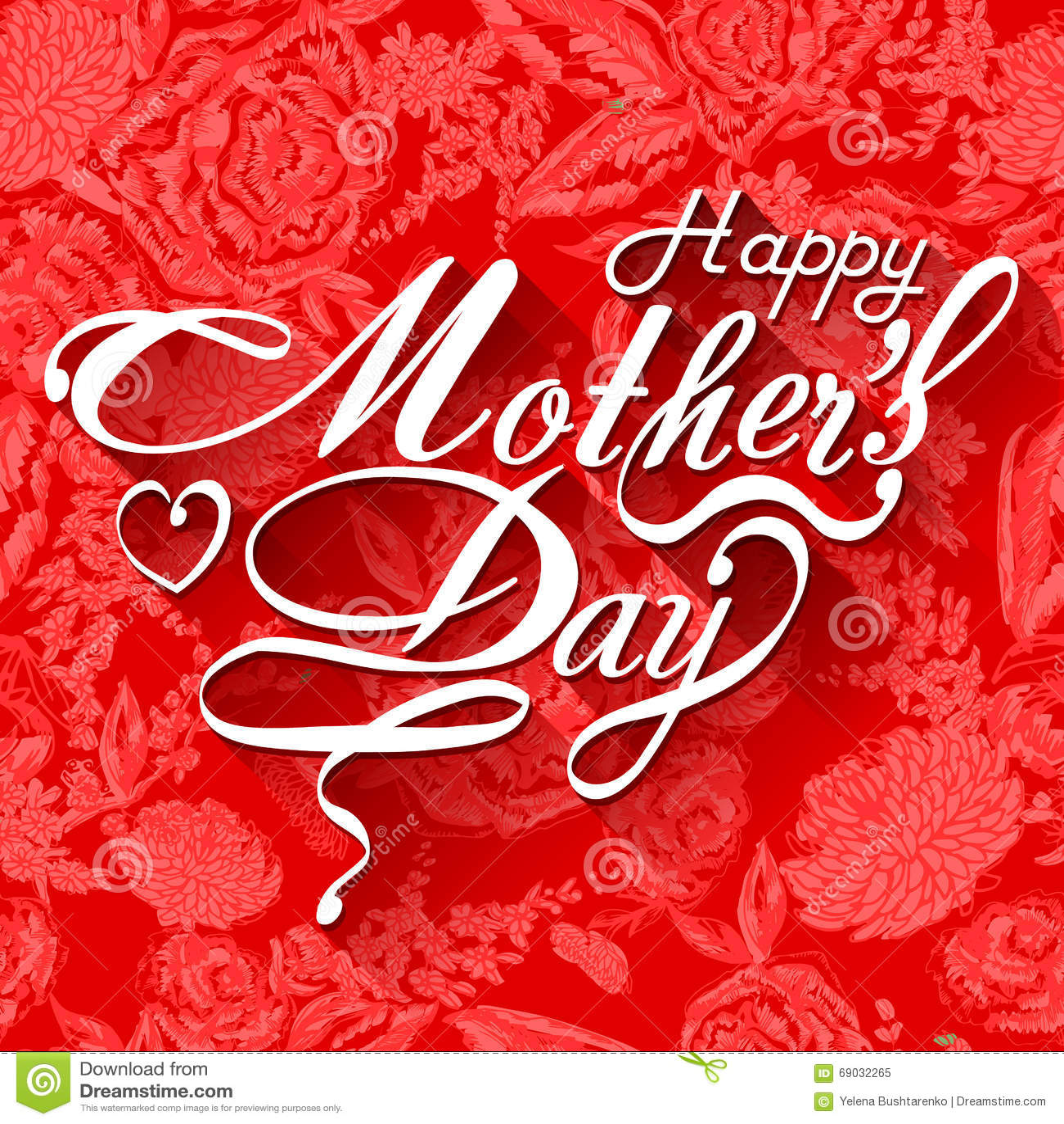 Tarjeta tipográfica feliz del diseño del día de madres