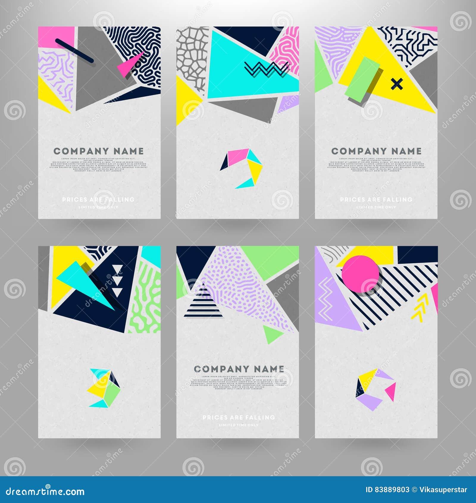 Tarjetas con formas geométricas