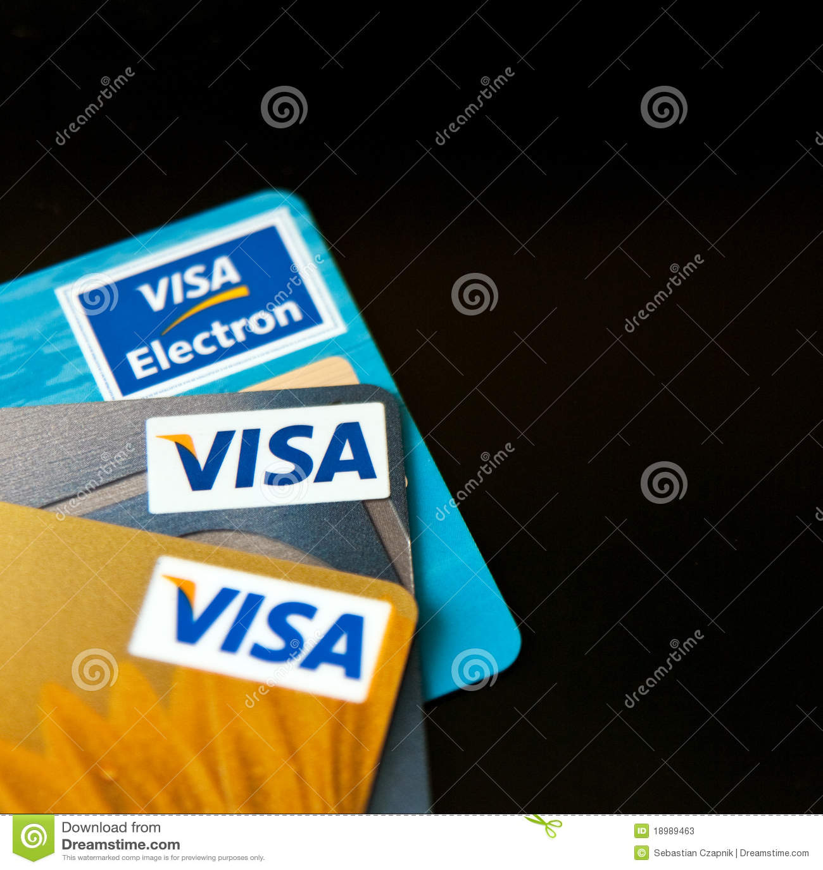 Tarjetas de crédito de la visa