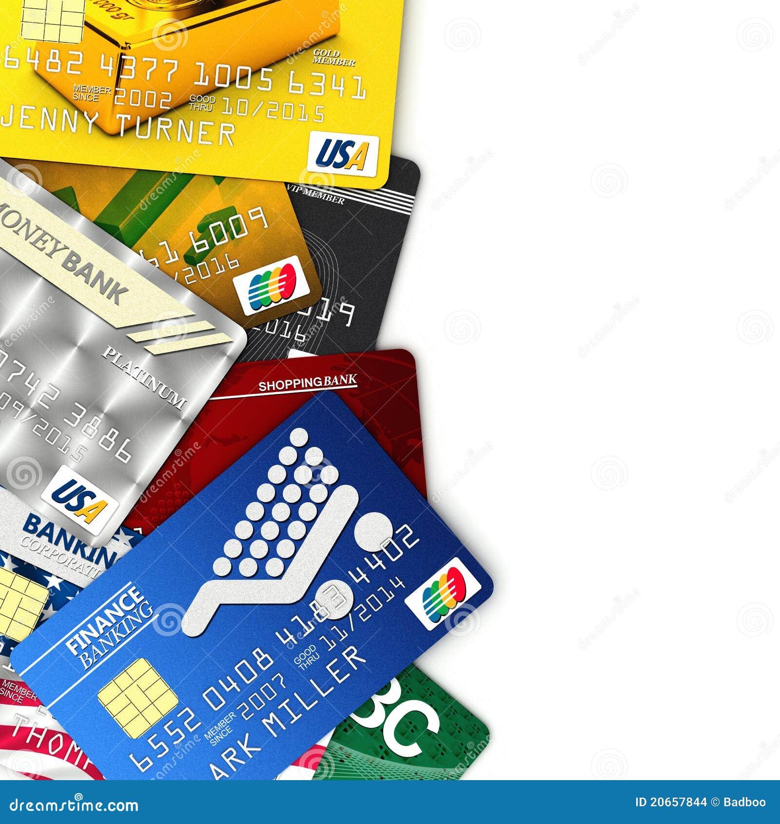 Tarjetas De Crédito Falsas Stock De Ilustración Ilustración De Paga 20657844