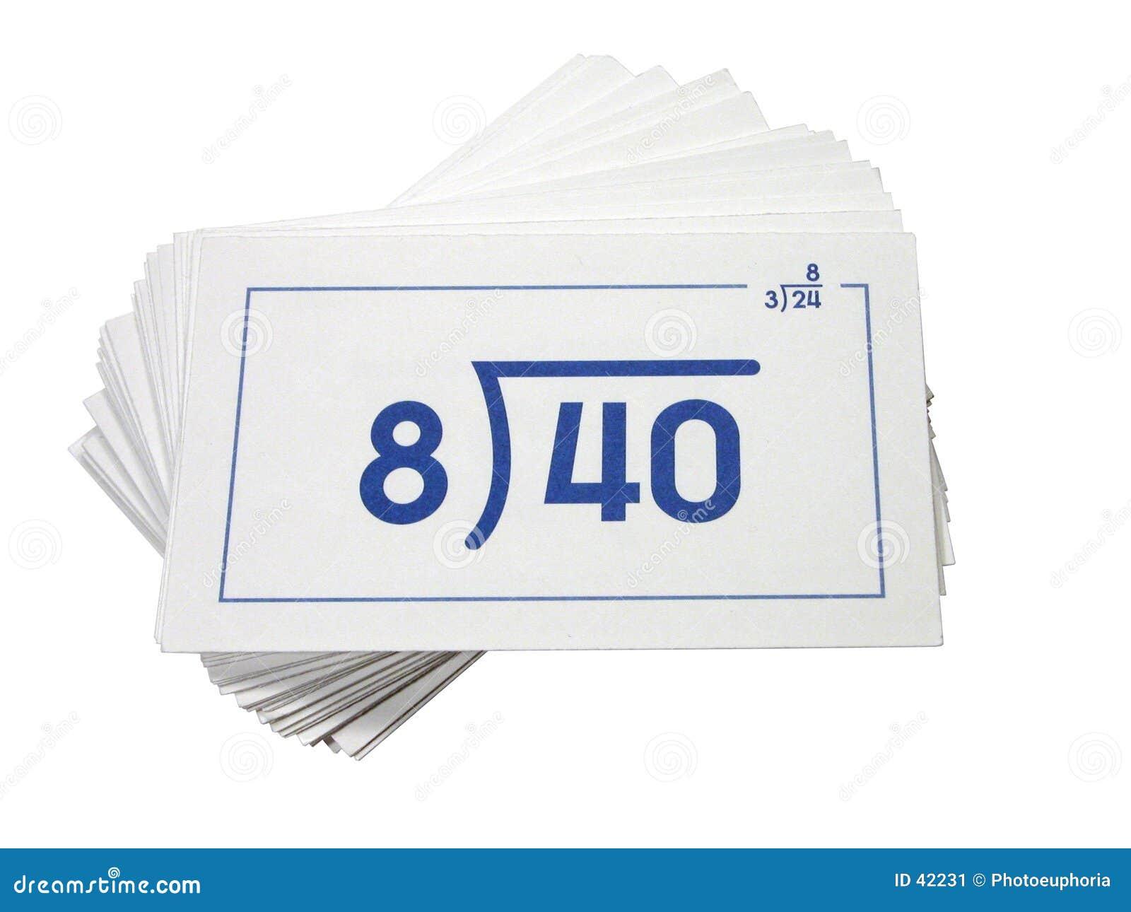 Download Tarjetas De Destello De La División Imagen de archivo - Imagen de blanco, matemáticas: 42231