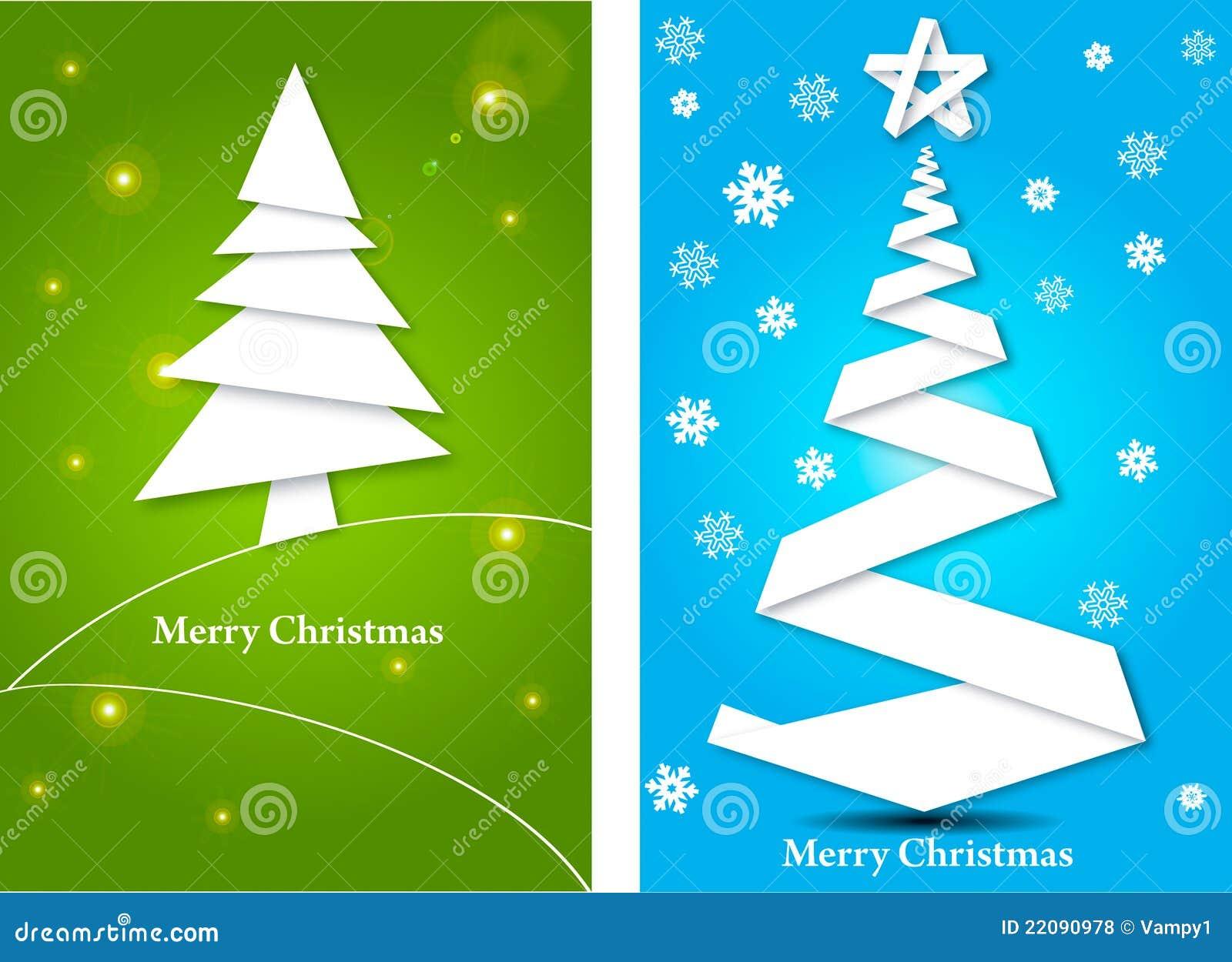 Tarjetas de felicitaci n con el rbol de navidad stock de - Tarjetas felicitacion navidad ...