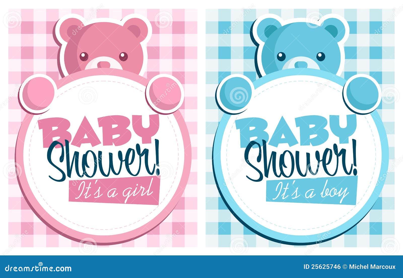 Tarjetas de felicitación de la invitación de la ducha de bebé
