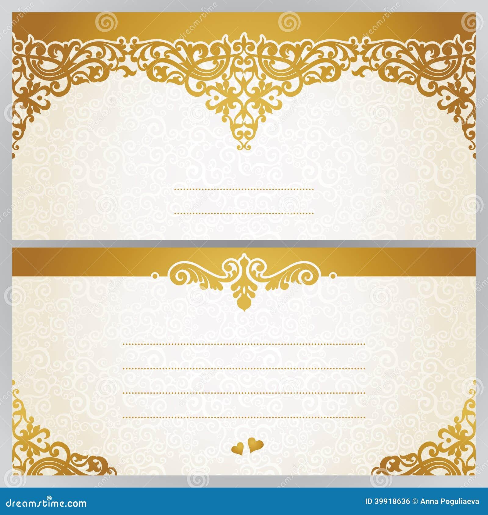 Tarjetas de felicitaci n del vintage con adornos florales - Adornos para fotos gratis ...