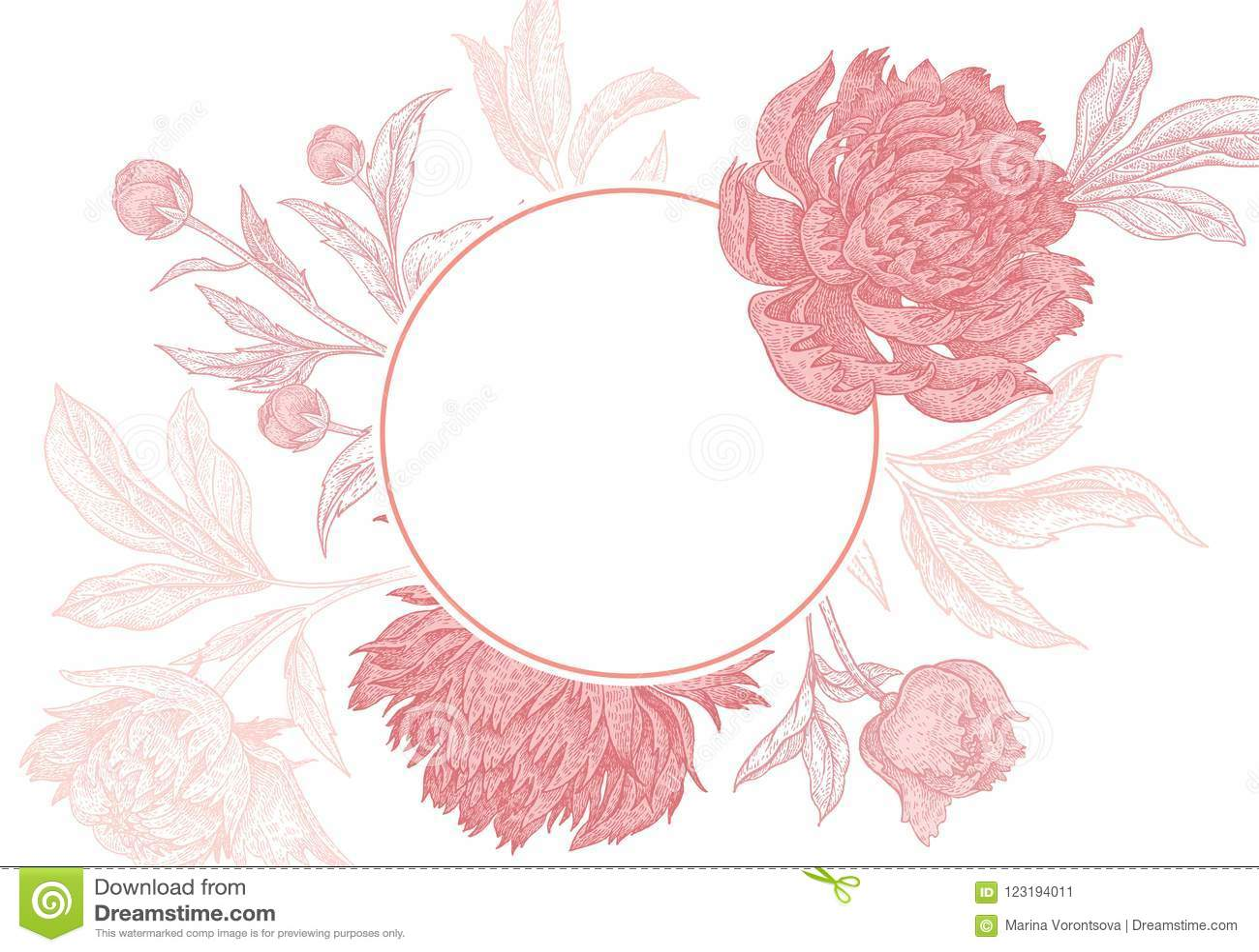 Plantillas De Flores Para Invitaciones