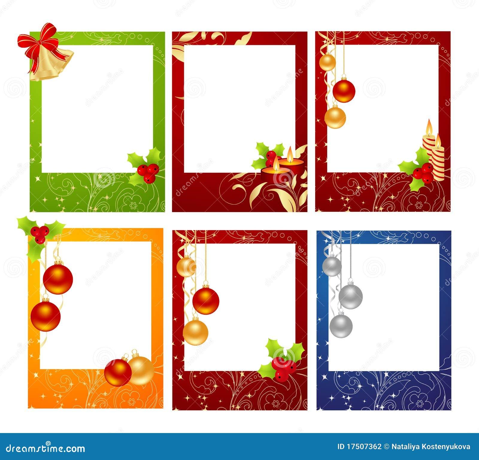 tarjetas de navidad fotografa de archivo