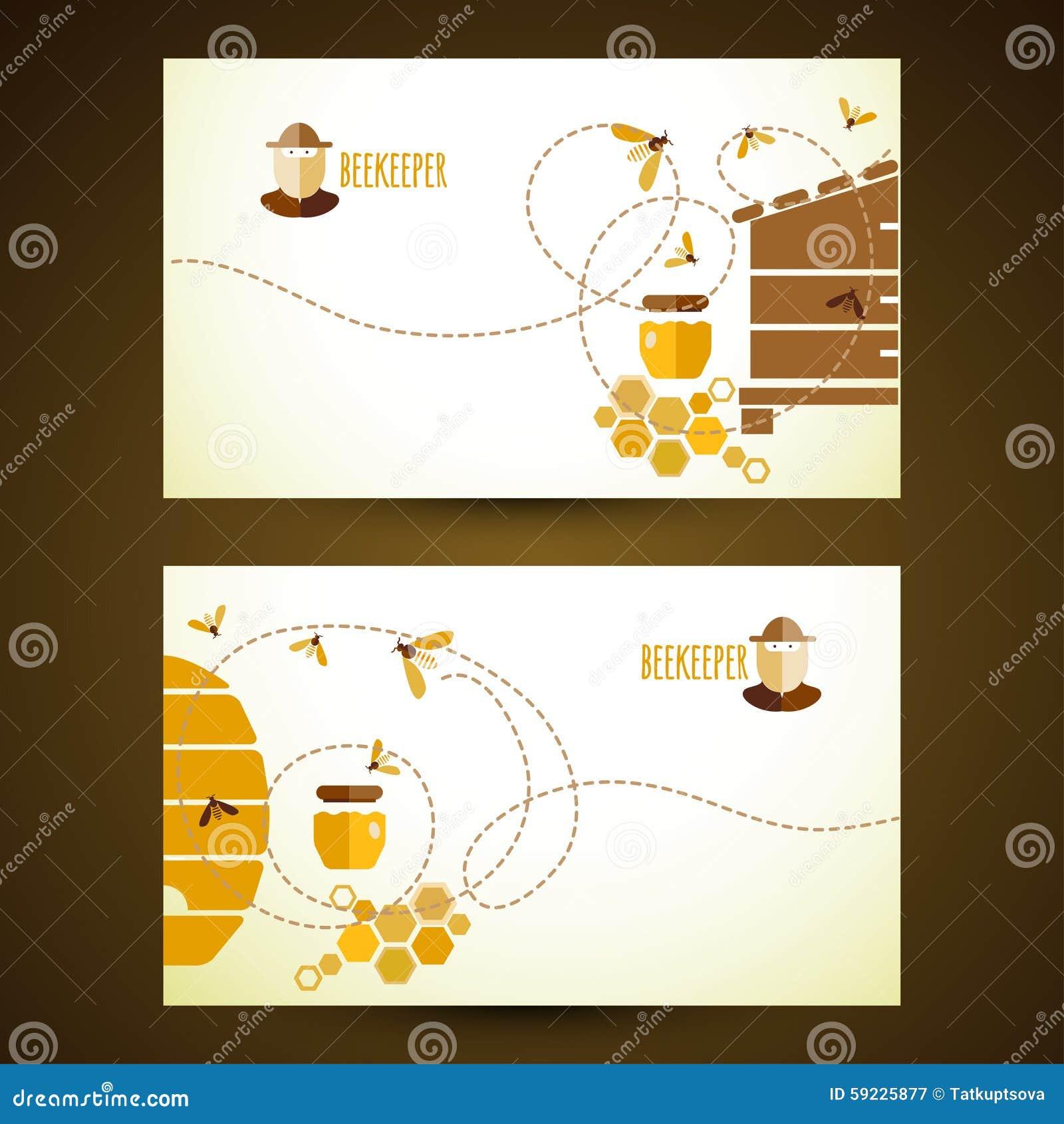 Download Tarjetas De Visita Del Vector Con La Miel Ilustración del Vector - Ilustración de decoración, ilustración: 59225877