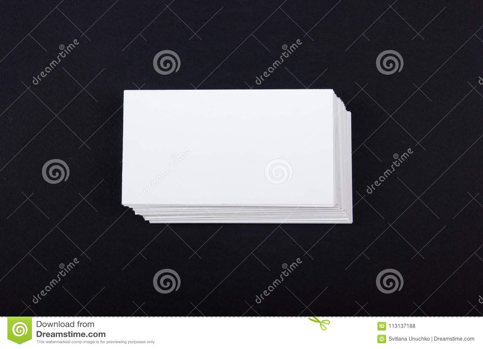 Tarjetas De Visita En Blanco En El Fondo Texturizado Negro Plantilla ...