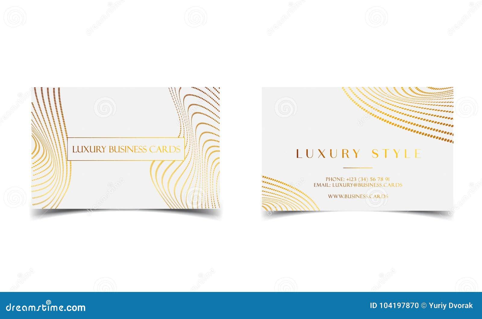 Tarjetas de visita de lujo del oro blanco para el evento del VIP Tarjeta de felicitación elegante con el modelo de puntos de oro