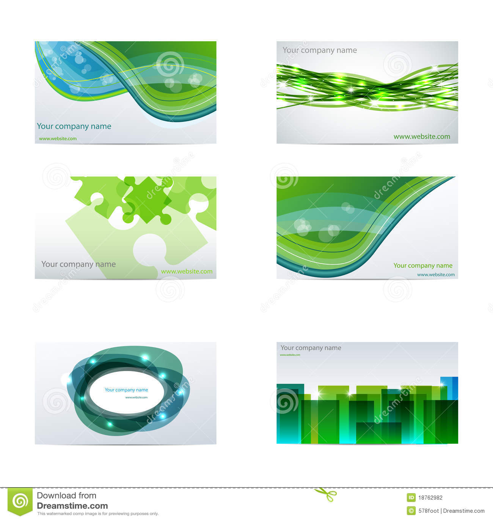 Tarjetas de visita verdes